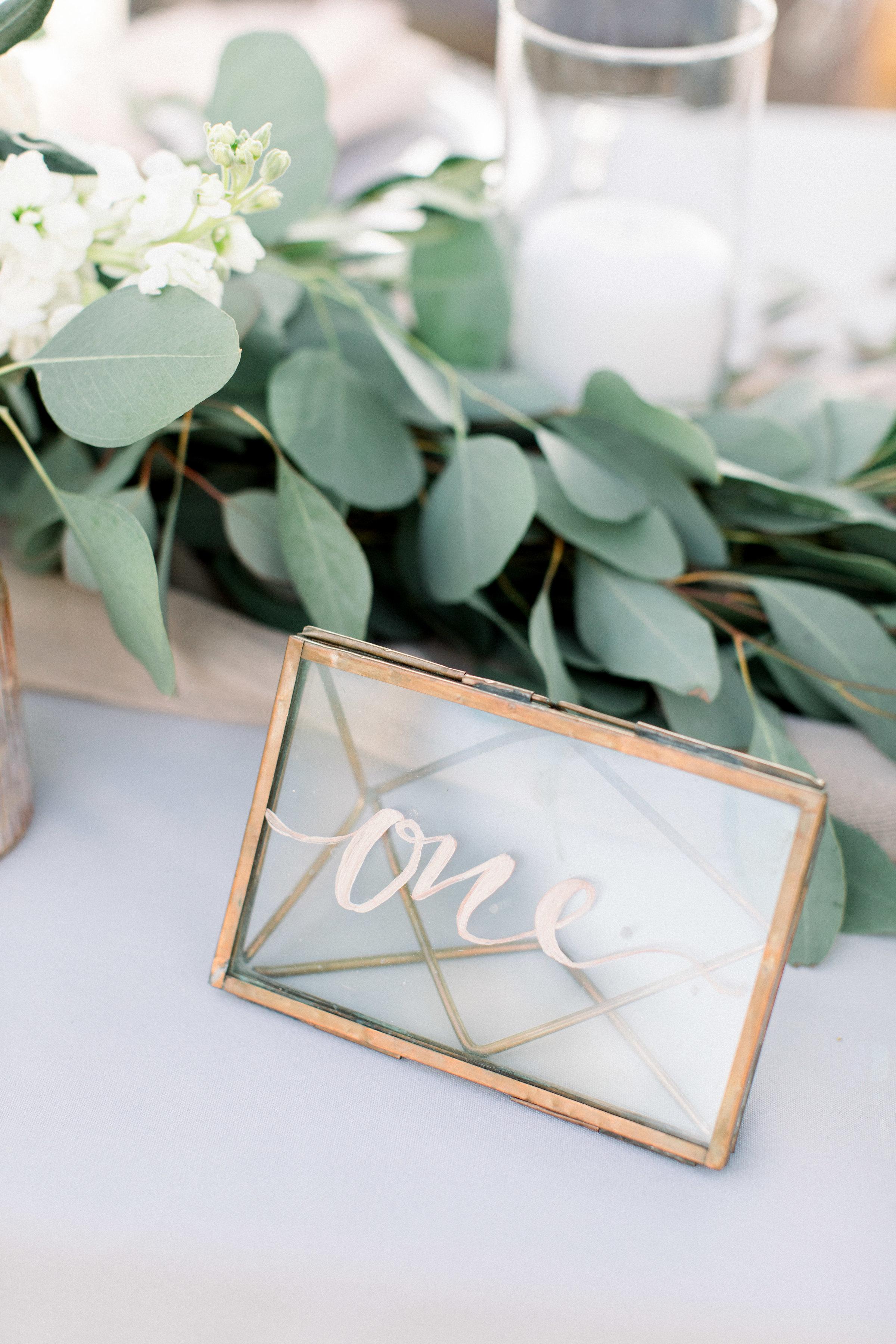 www.santabarbarawedding.com | Jenny Quicksall | Santa Barbara Club | Bluebell Events | Reception Table Number