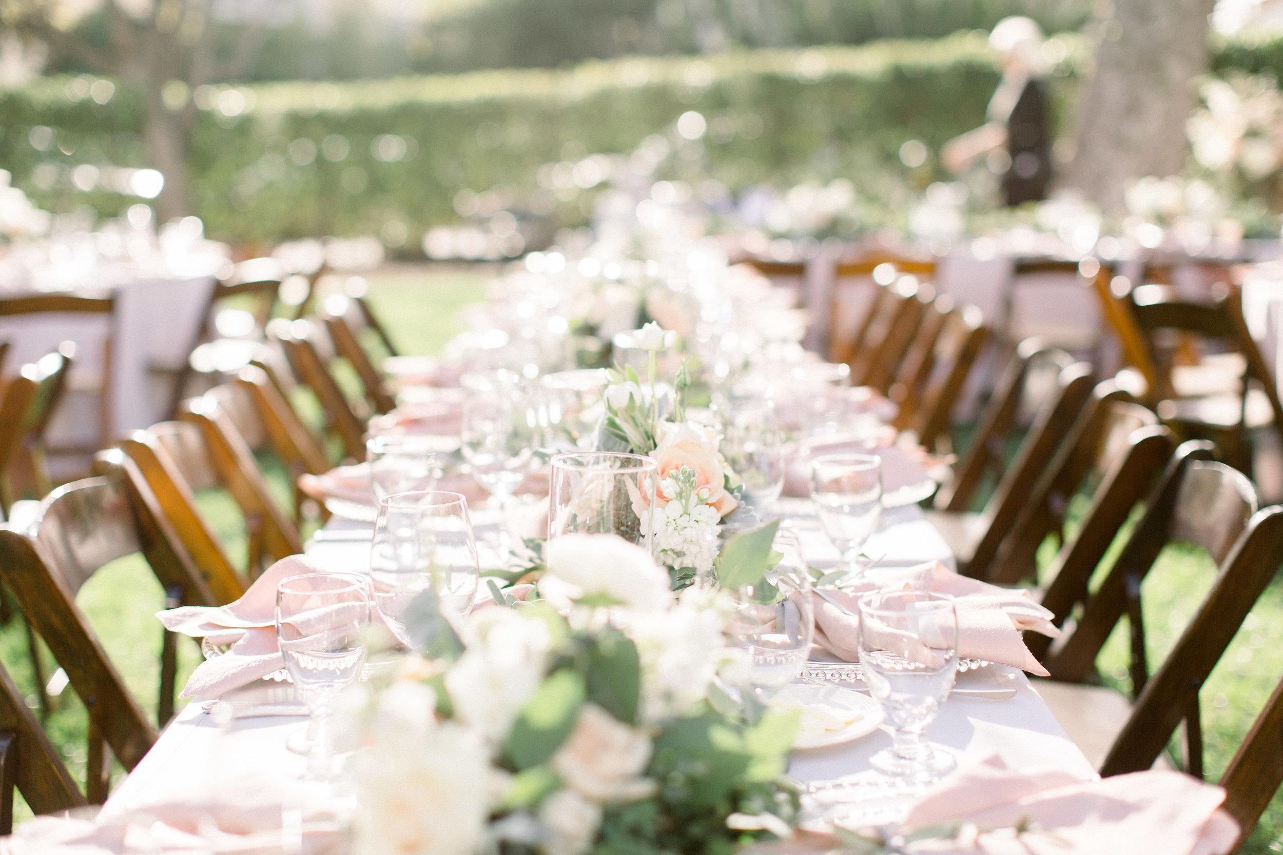 www.santabarbarawedding.com | Jenny Quicksall | Santa Barbara Club | Bluebell Events | Reception Table
