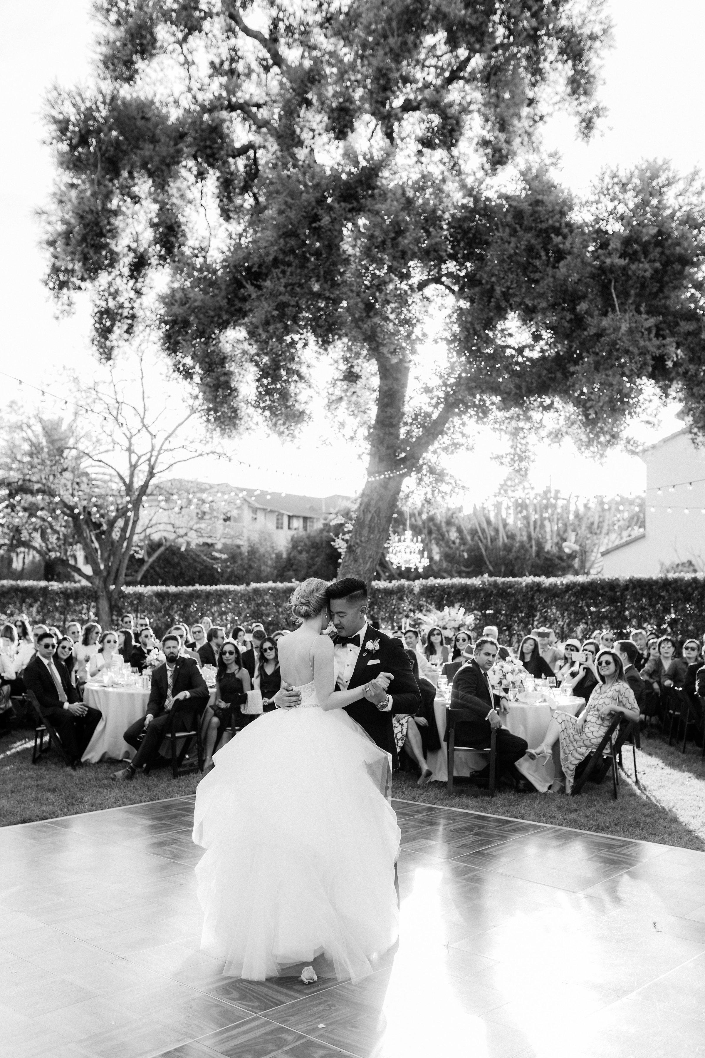www.santabarbarawedding.com | Jenny Quicksall | Santa Barbara Club | Bluebell Events | Bride and Groom | First Dance