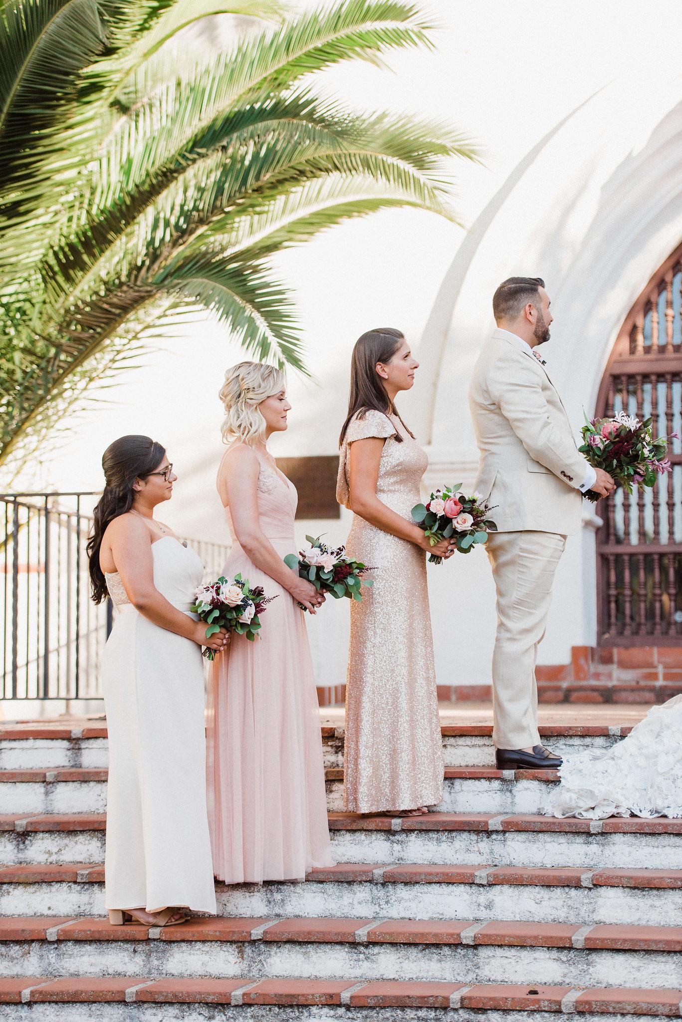 www.santabarbarawedding.com | Grace Kathryn Photography | Santa Barbara Courthouse | Canary Hotel | Amazing Days Events | Bridesmaids | Ceremony