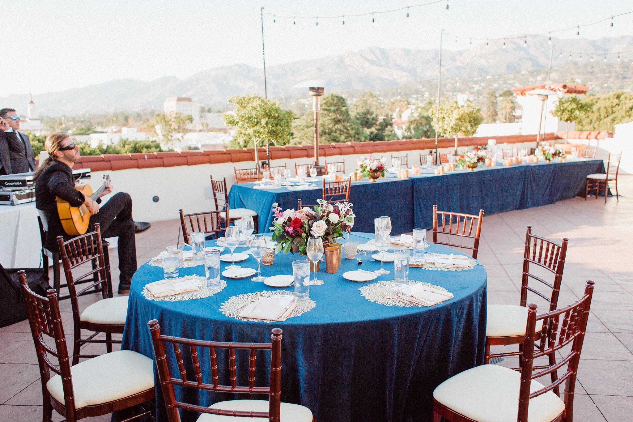 www.santabarbarawedding.com | Grace Kathryn Photography | Santa Barbara Courthouse | Canary Hotel | Amazing Days Events | Reception Tables