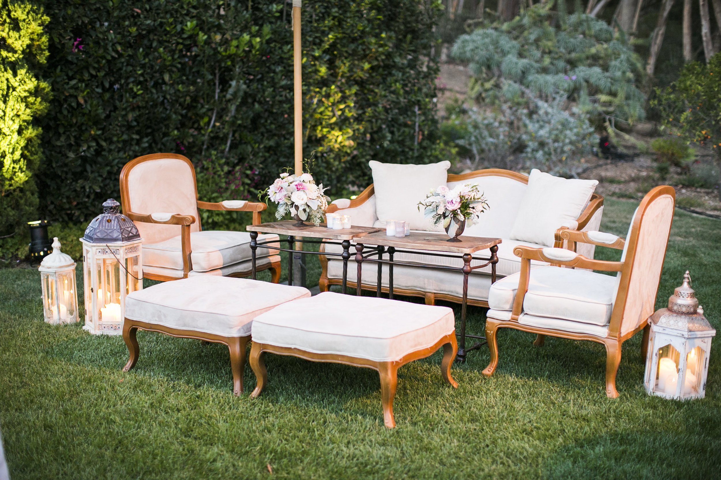 www.santabarbarawedding.com | Event of the Season | San Ysidro Ranch | Birds of a Feather | Reception Seating