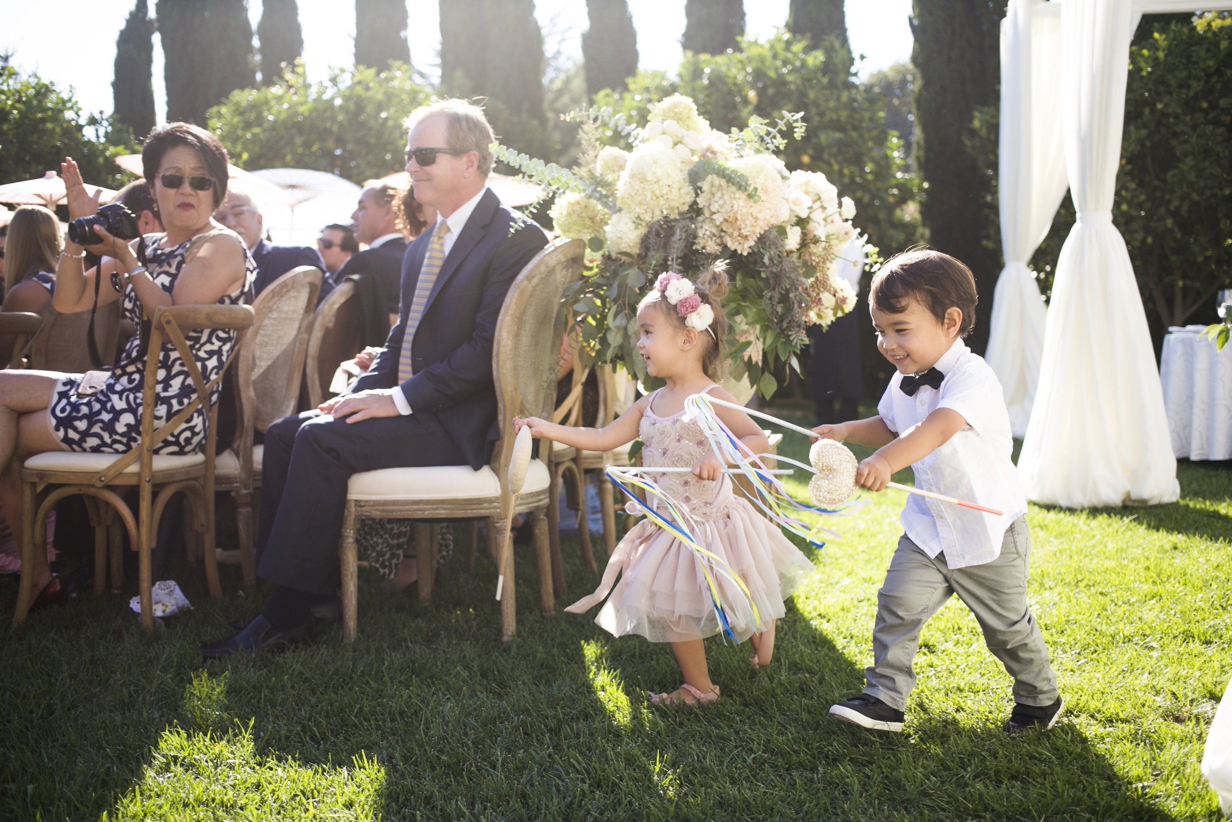www.santabarbarawedding.com | Event of the Season | San Ysidro Ranch | Birds of a Feather | Ring Bearer and Flower Girl