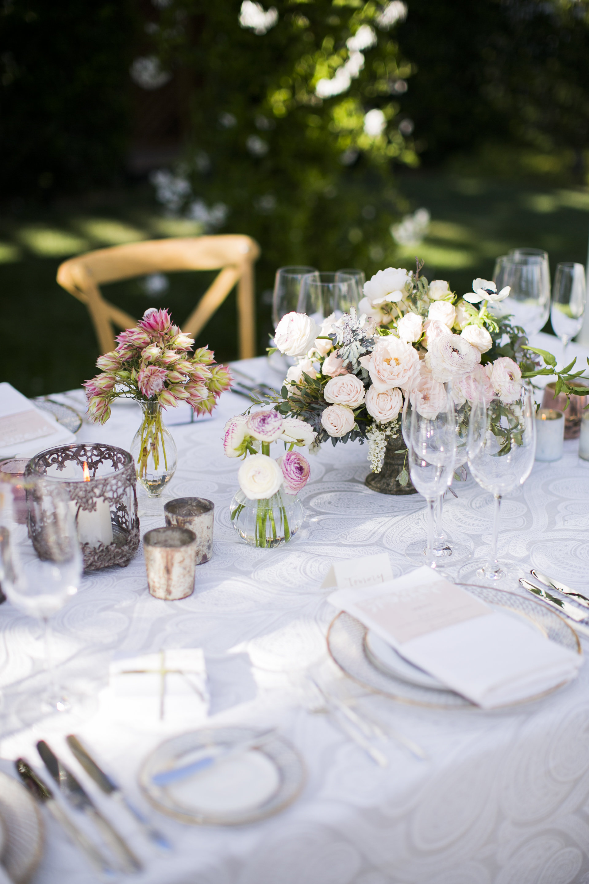 www.santabarbarawedding.com | Event of the Season | San Ysidro Ranch | Birds of a Feather | Reception Table
