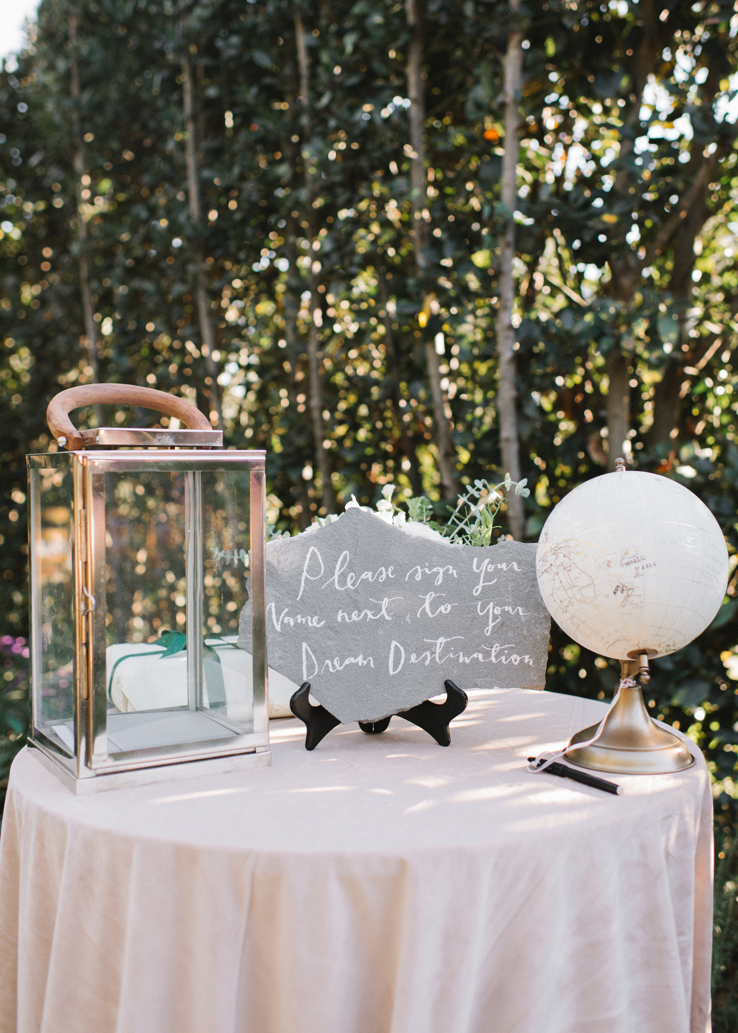 www.santabarbarawedding.com   Event of the Season   Norman and Blake   San Ysidro Ranch   Guest Sign In Table