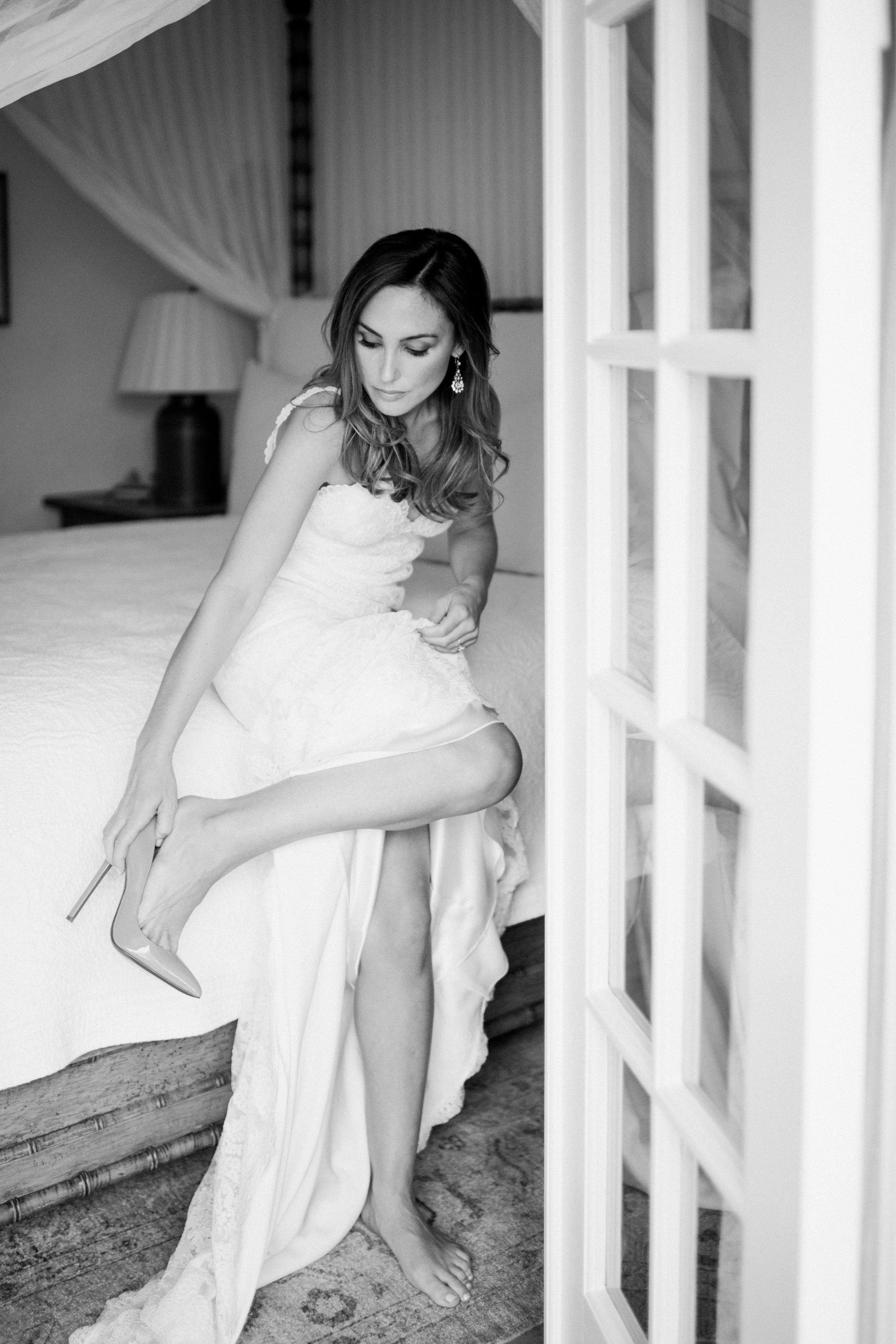 www.santabarbarawedding.com   Event of the Season   Norman and Blake   San Ysidro Ranch   Bride getting ready