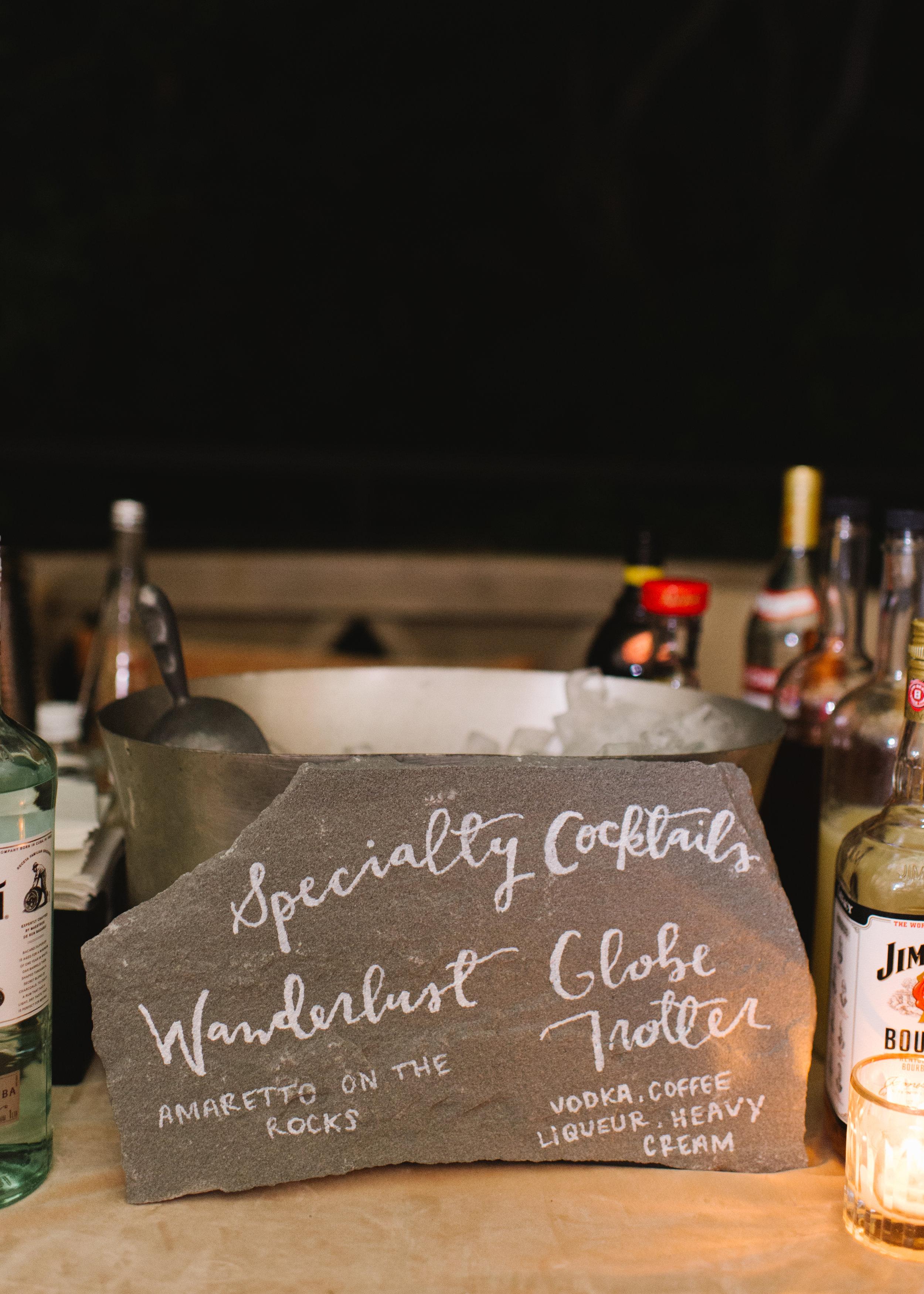 www.santabarbarawedding.com   Event of the Season   Norman and Blake   San Ysidro Ranch   Specialty Drinks