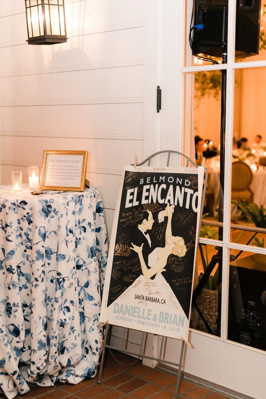 www.santabarbarawedding.com | Anna Delores | Vanessa Noel Events | Belmond El Encanto | Wedding Poster