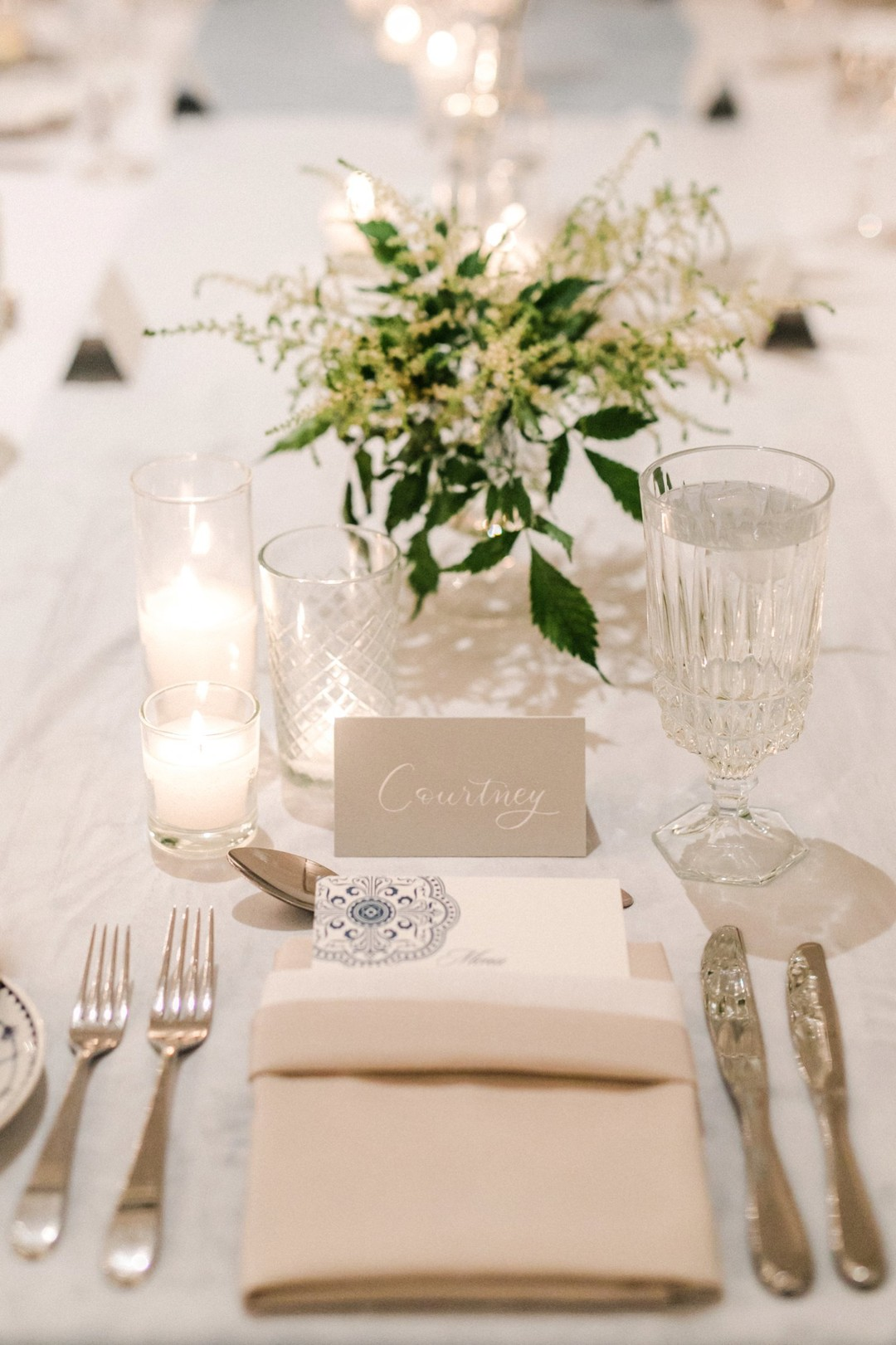 www.santabarbarawedding.com | Anna Delores | Vanessa Noel Events | Belmond El Encanto | Place Setting