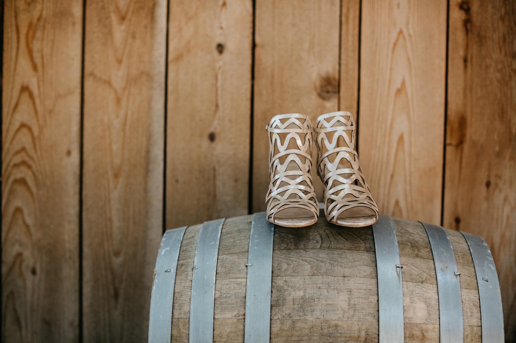 www.santabarbarawedding.com | Terra Mia Vineyard | Diana Lake Photography | Bride's Shoes
