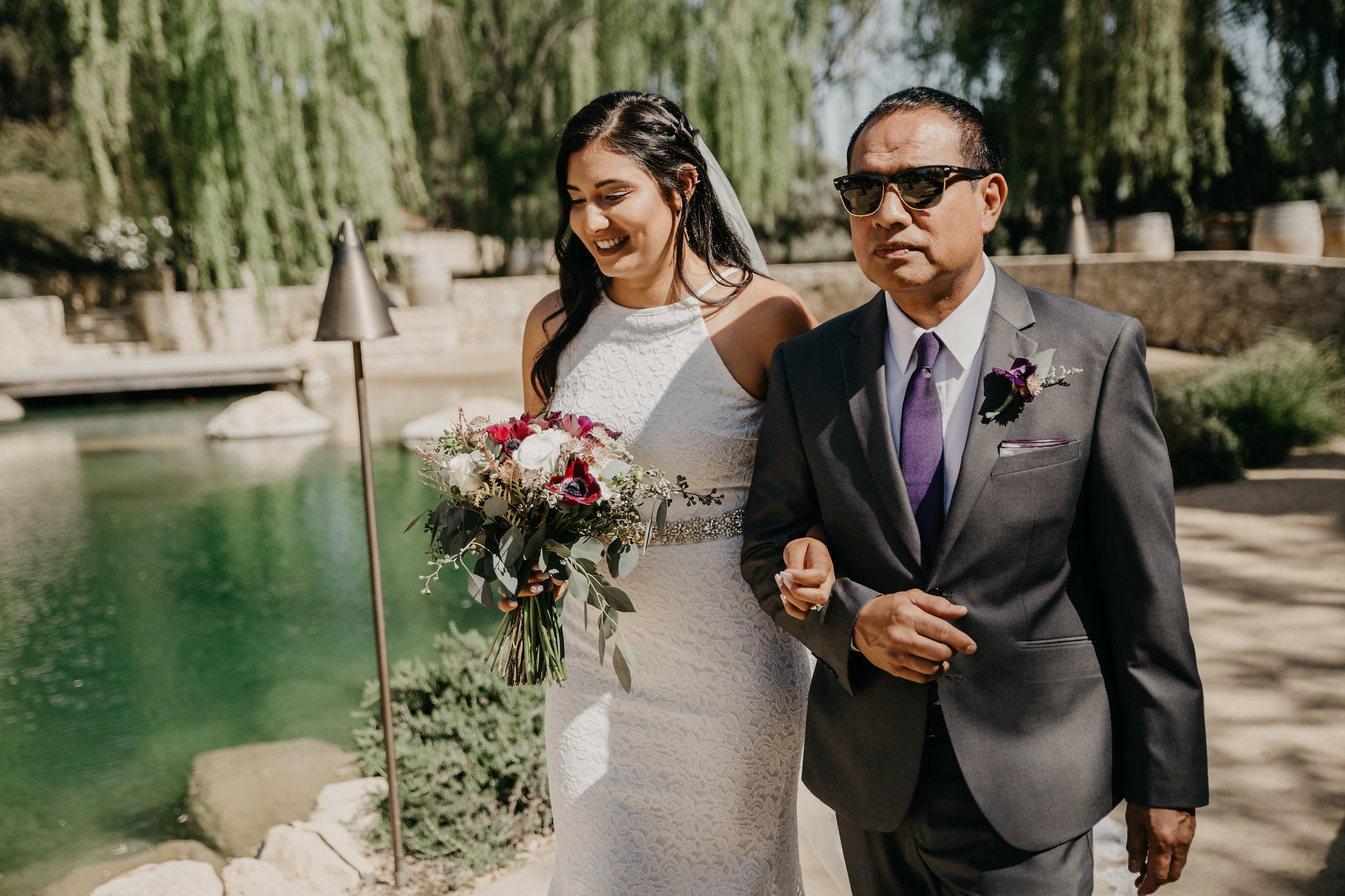 www.santabarbarawedding.com | Terra Mia Vineyard | Diana Lake Photography | Bride and Father