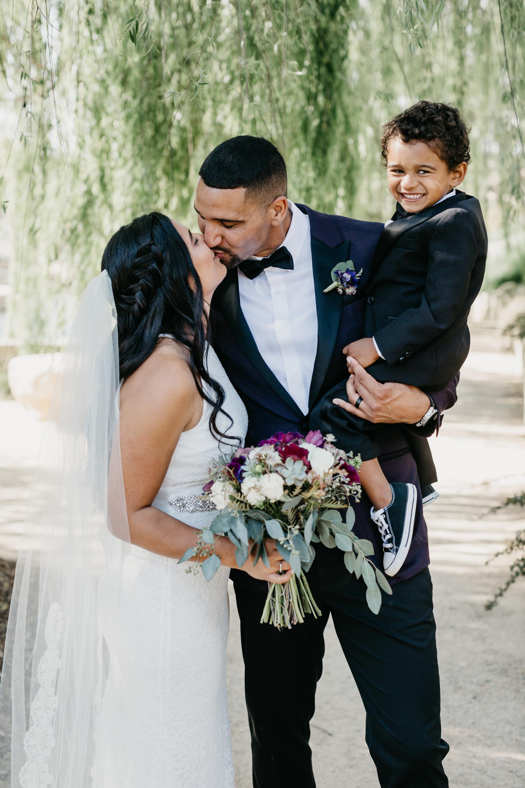www.santabarbarawedding.com | Terra Mia Vineyard | Diana Lake Photography | Bride and Groom and Son