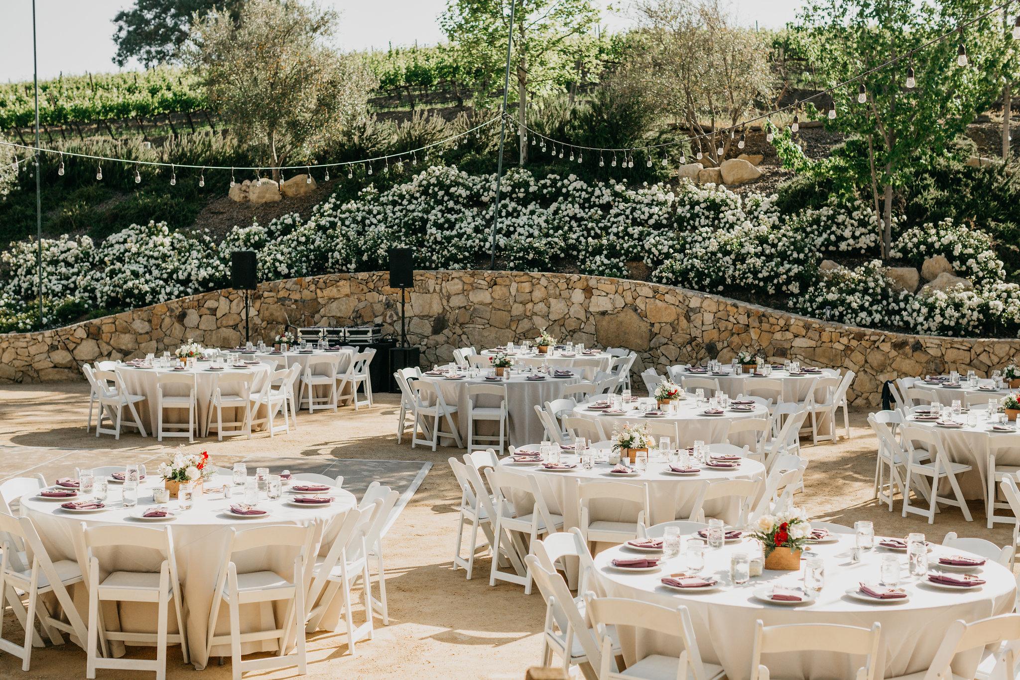 www.santabarbarawedding.com | Terra Mia Vineyard | Diana Lake Photography | Reception Tables
