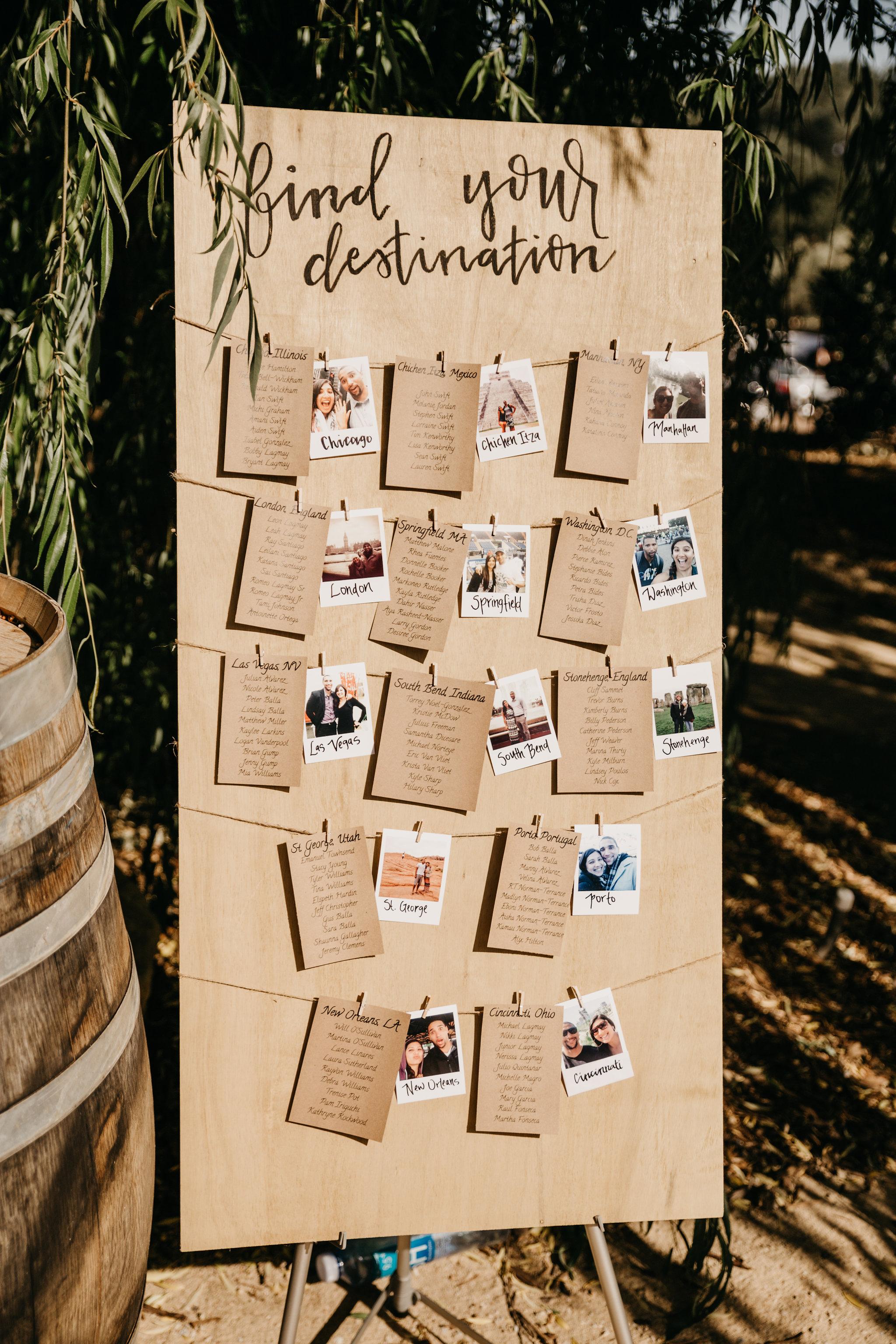 www.santabarbarawedding.com | Terra Mia Vineyard | Diana Lake Photography | Seating Chart