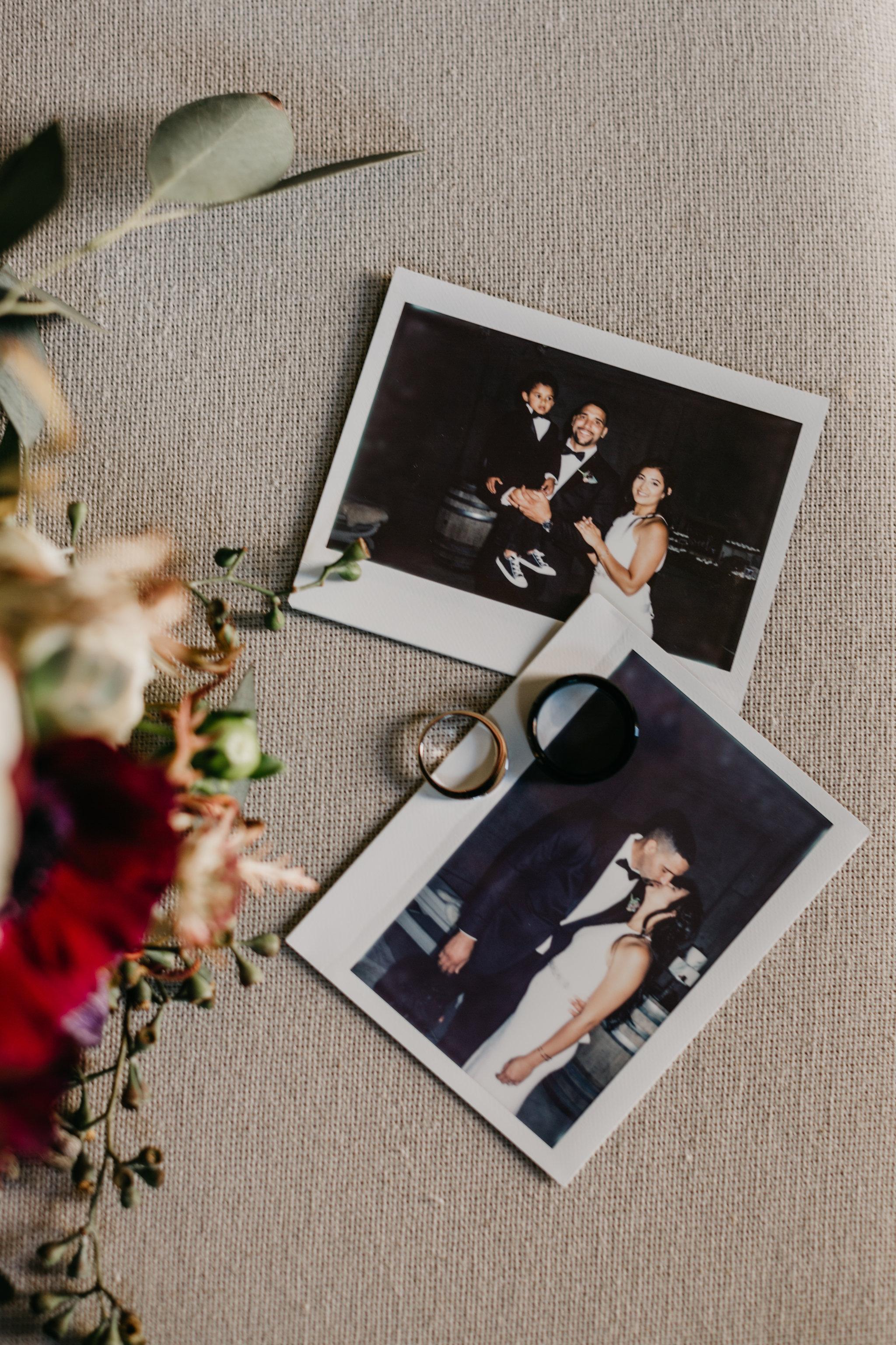 www.santabarbarawedding.com | Terra Mia Vineyard | Diana Lake Photography | Polaroid Photos