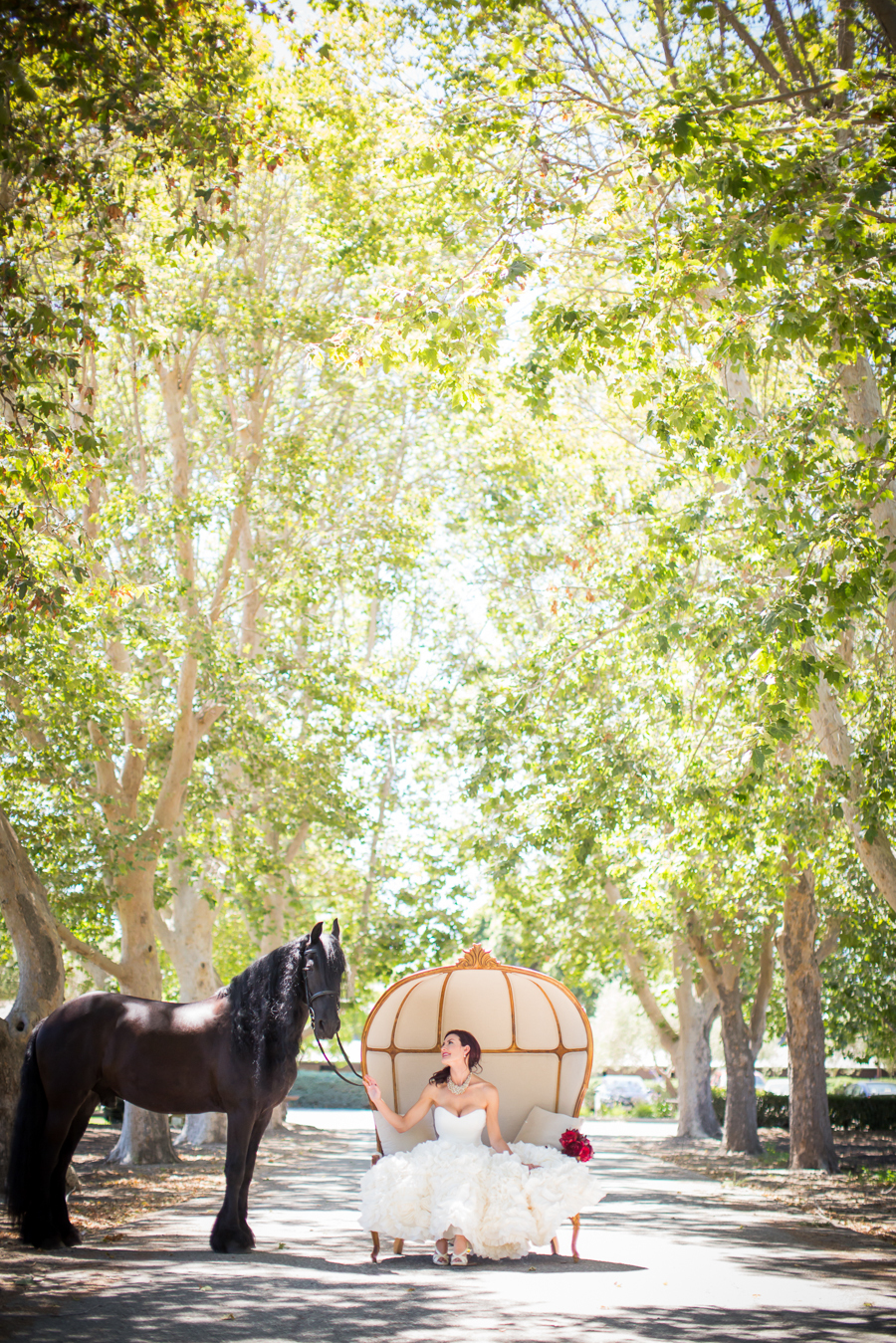 www.santabarbarawedding.com | Ann Johnson Events | Jessica Lewis Photo | Whispering Rose Ranch | Bride and Horse