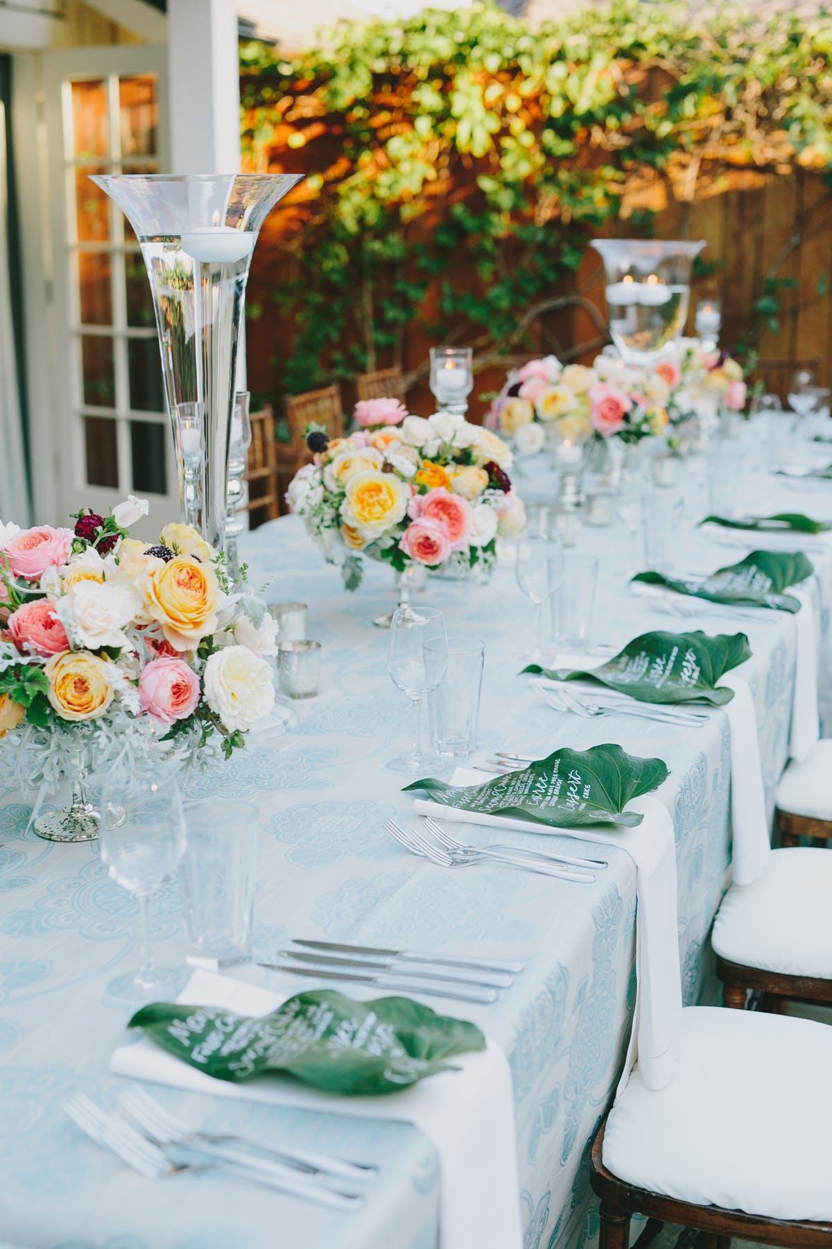 www.santabarbarawedding.com | San Ysidro Ranch | Alegria by Design | Jake + Necia Photography | Reception Table