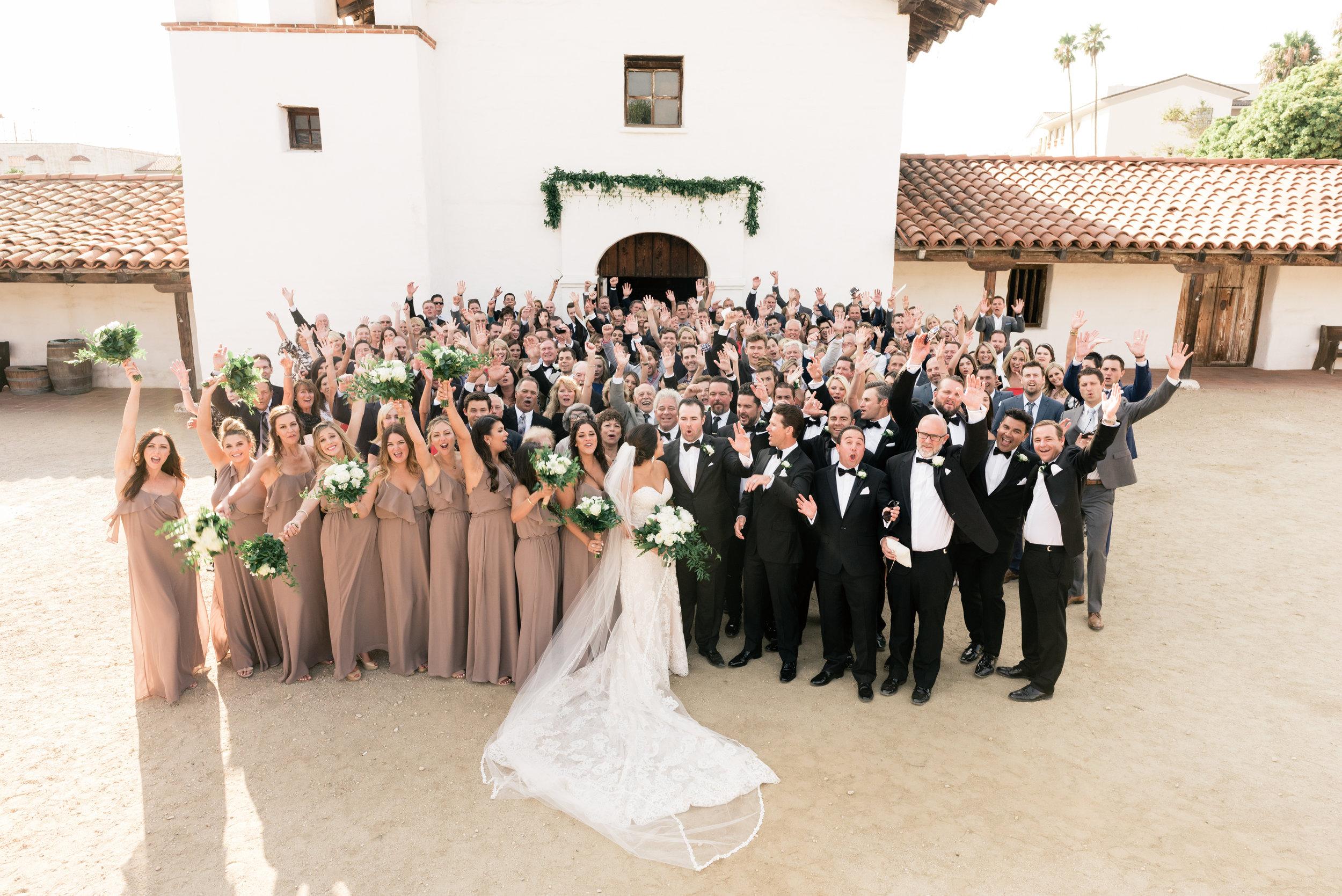 www.santabarbarawedding.com   El Presidio   Santa Barbara Club   Taralynn Lawton   Wedding Party