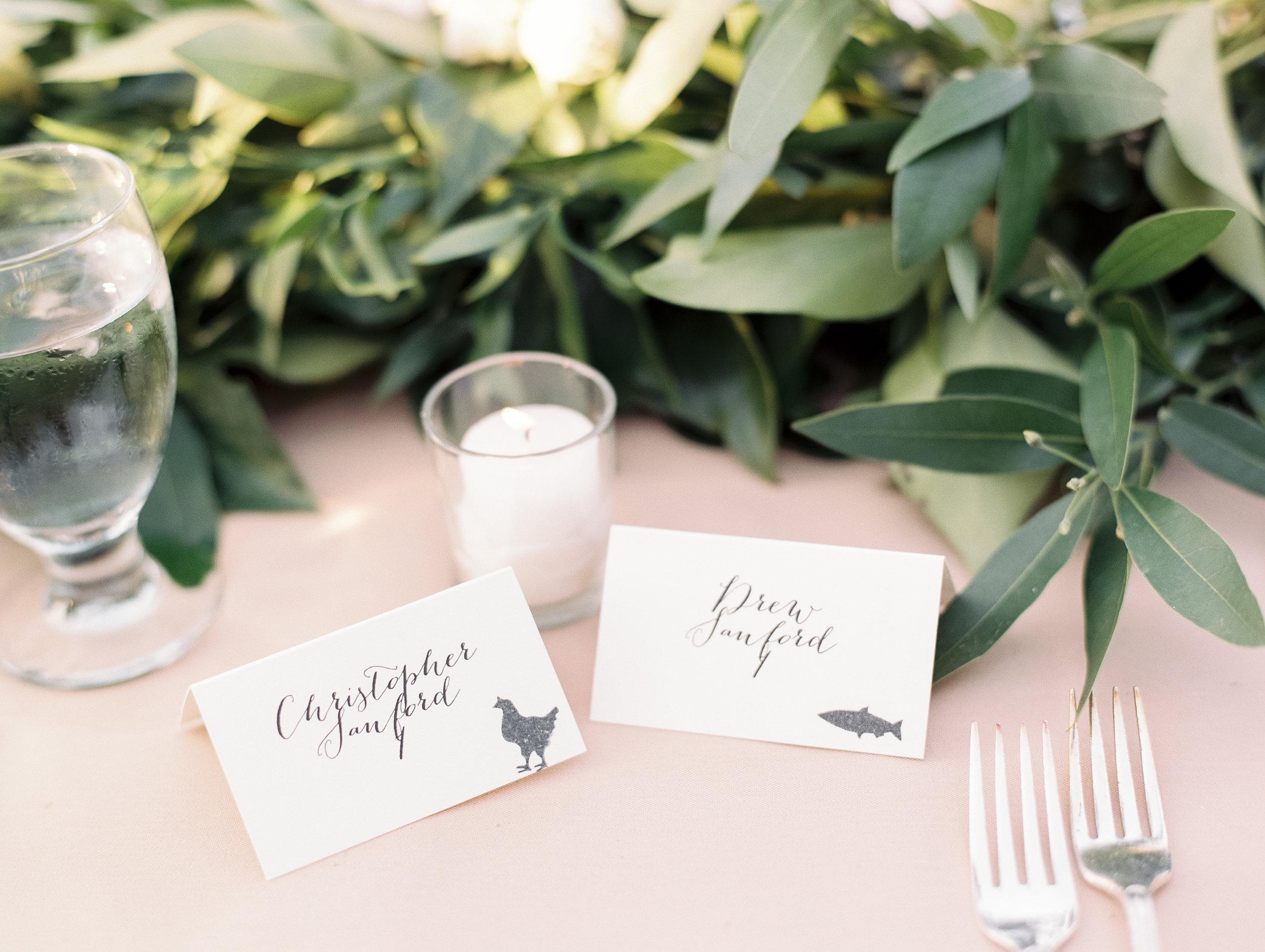 www.santabarbarawedding.com   El Presidio   Santa Barbara Club   Taralynn Lawton   Escort Cards