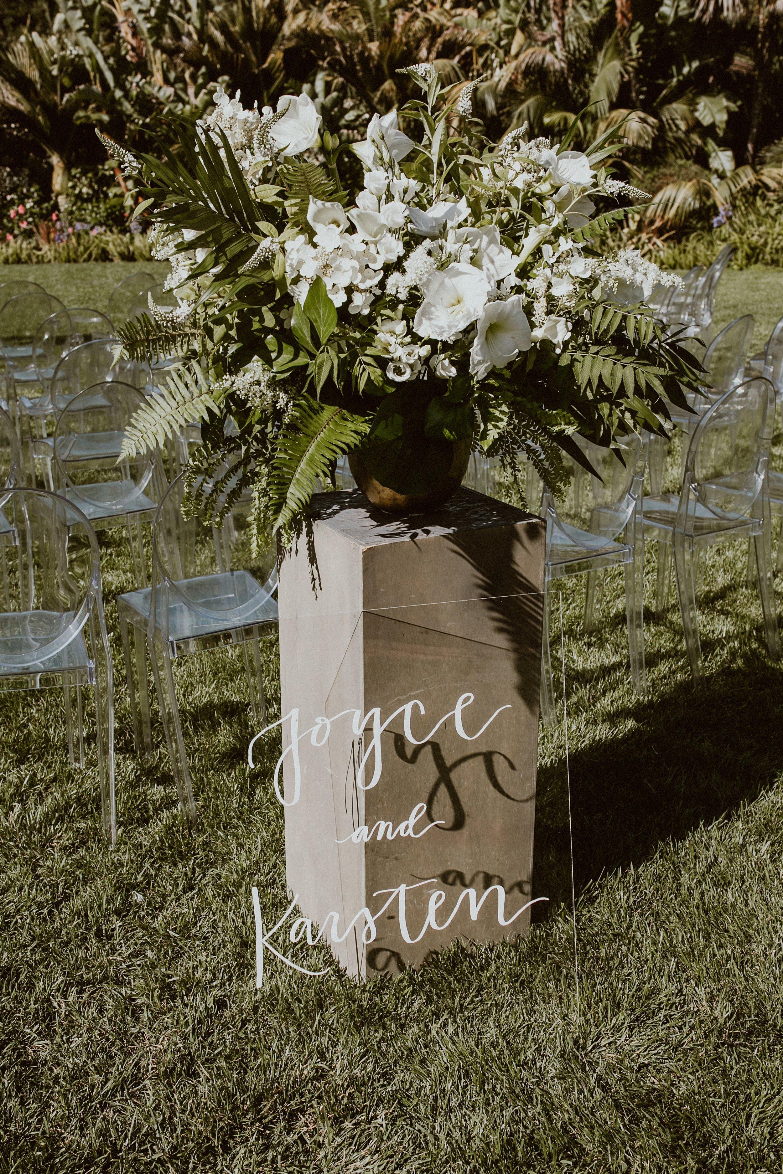 www.santabarbarawedding.com | Event of the Season | Gina and Ryan Photo | Four Seasons | Wedding Sign