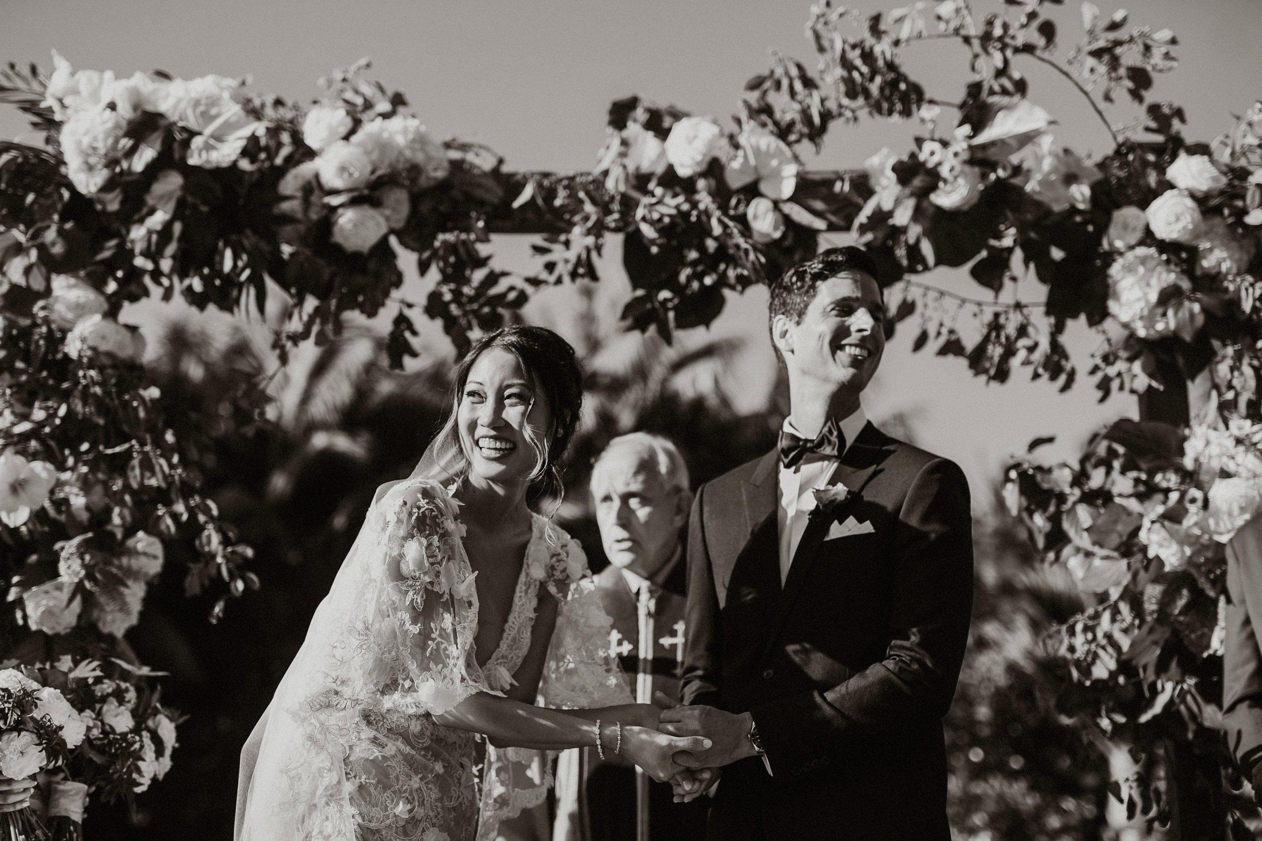 www.santabarbarawedding.com | Event of the Season | Gina and Ryan Photo | Four Seasons | Ceremony | Bride and Groom