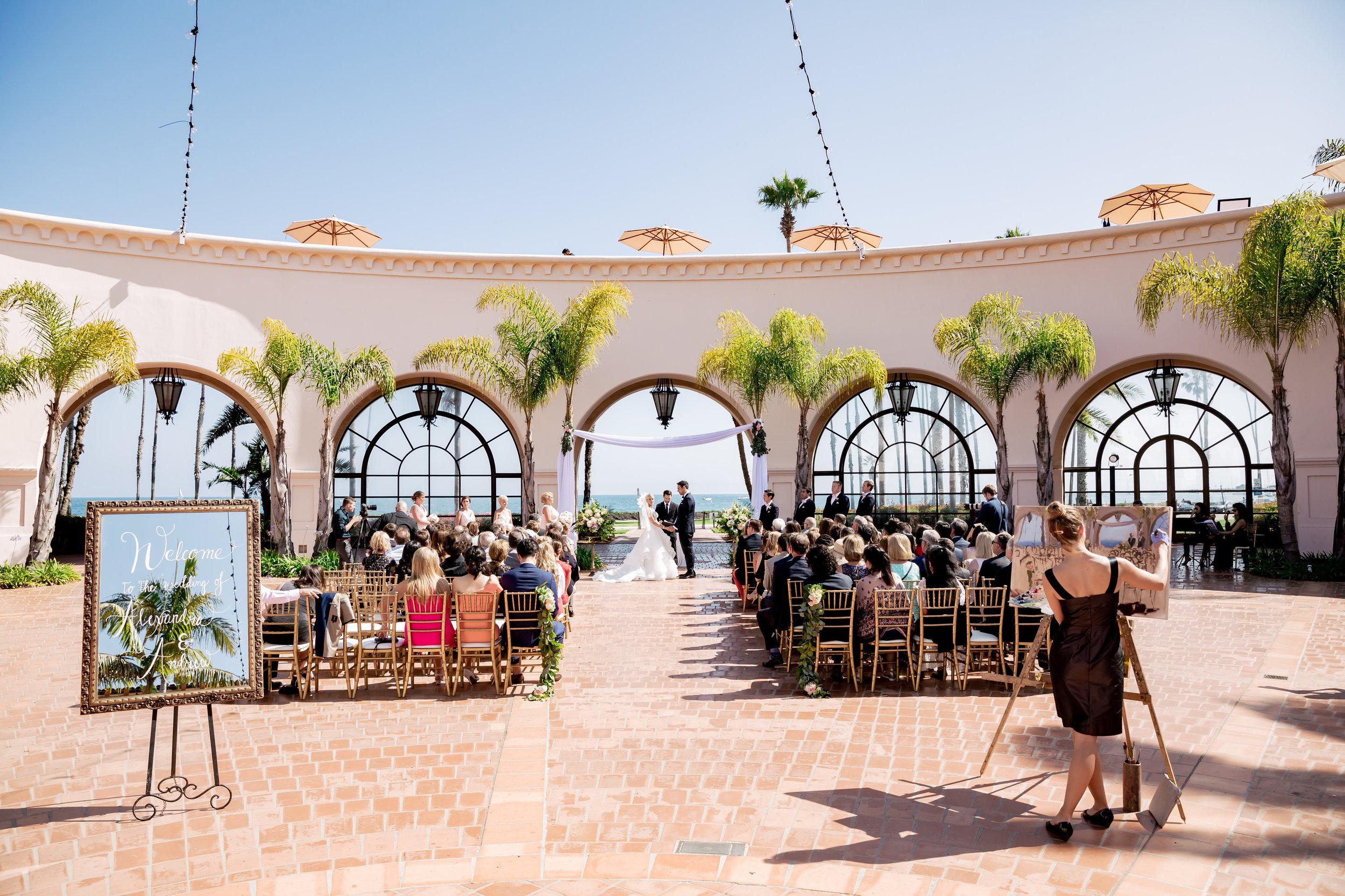 www.santabarbarawedding.com   Rewind Photography   Hilton Santa Barbara Beachfront Resort   Events by M and M   Ceremony