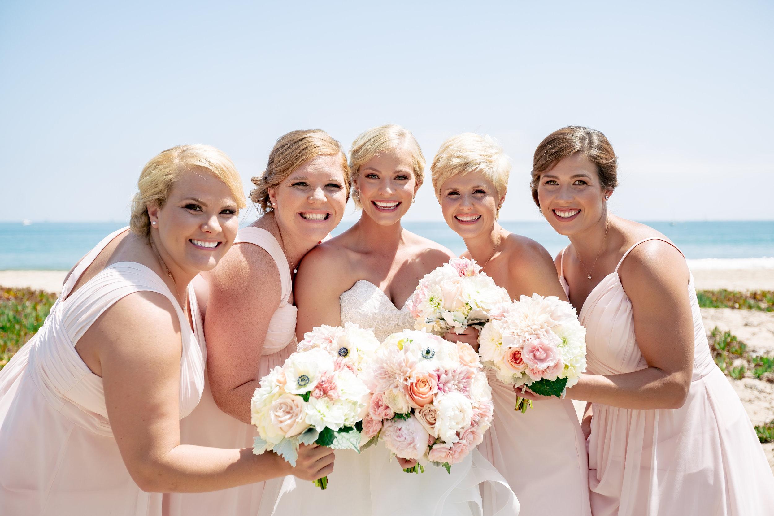 www.santabarbarawedding.com   Rewind Photography   Hilton Santa Barbara Beachfront Resort   Events by M and M   Bridesmaids