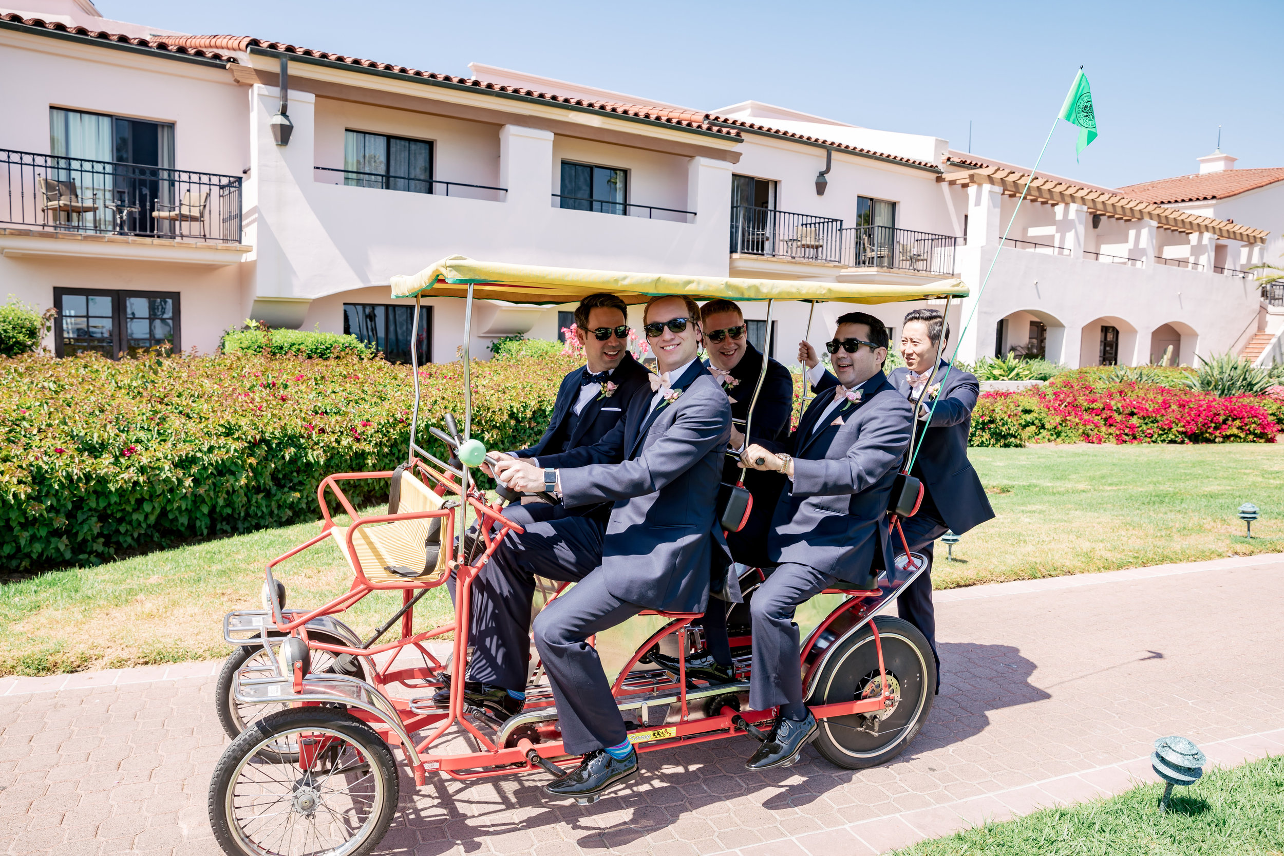www.santabarbarawedding.com   Rewind Photography   Hilton Santa Barbara Beachfront Resort   Events by M and M   Groomsmen