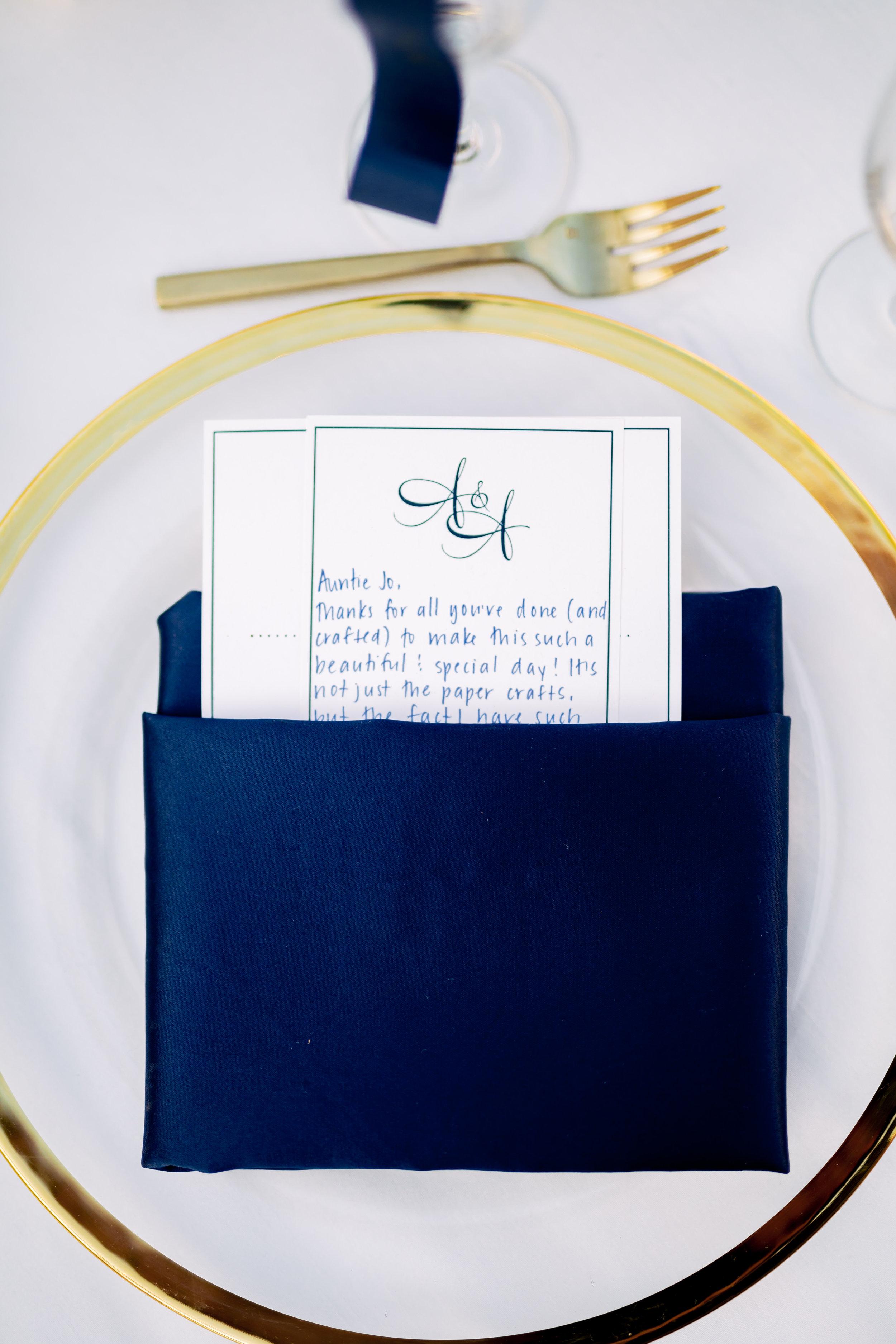 www.santabarbarawedding.com   Rewind Photography   Hilton Santa Barbara Beachfront Resort   Events by M and M   Place Setting