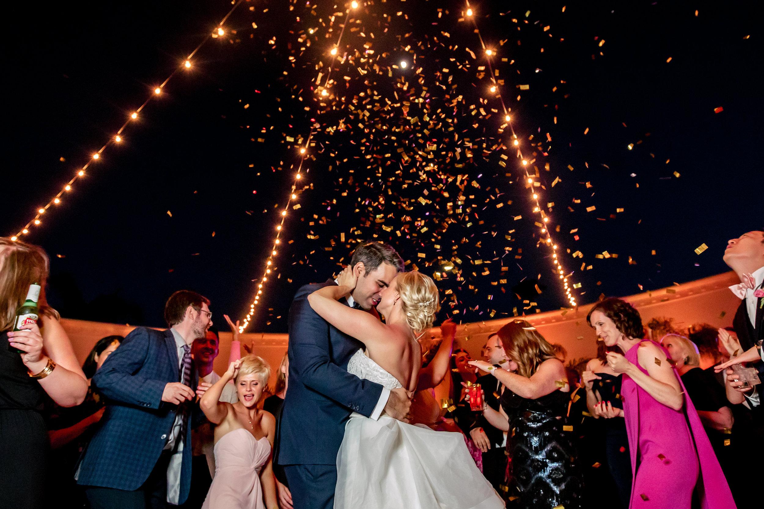 www.santabarbarawedding.com   Rewind Photography   Hilton Santa Barbara Beachfront Resort   Events by M and M   Bride and Groom   Confetti