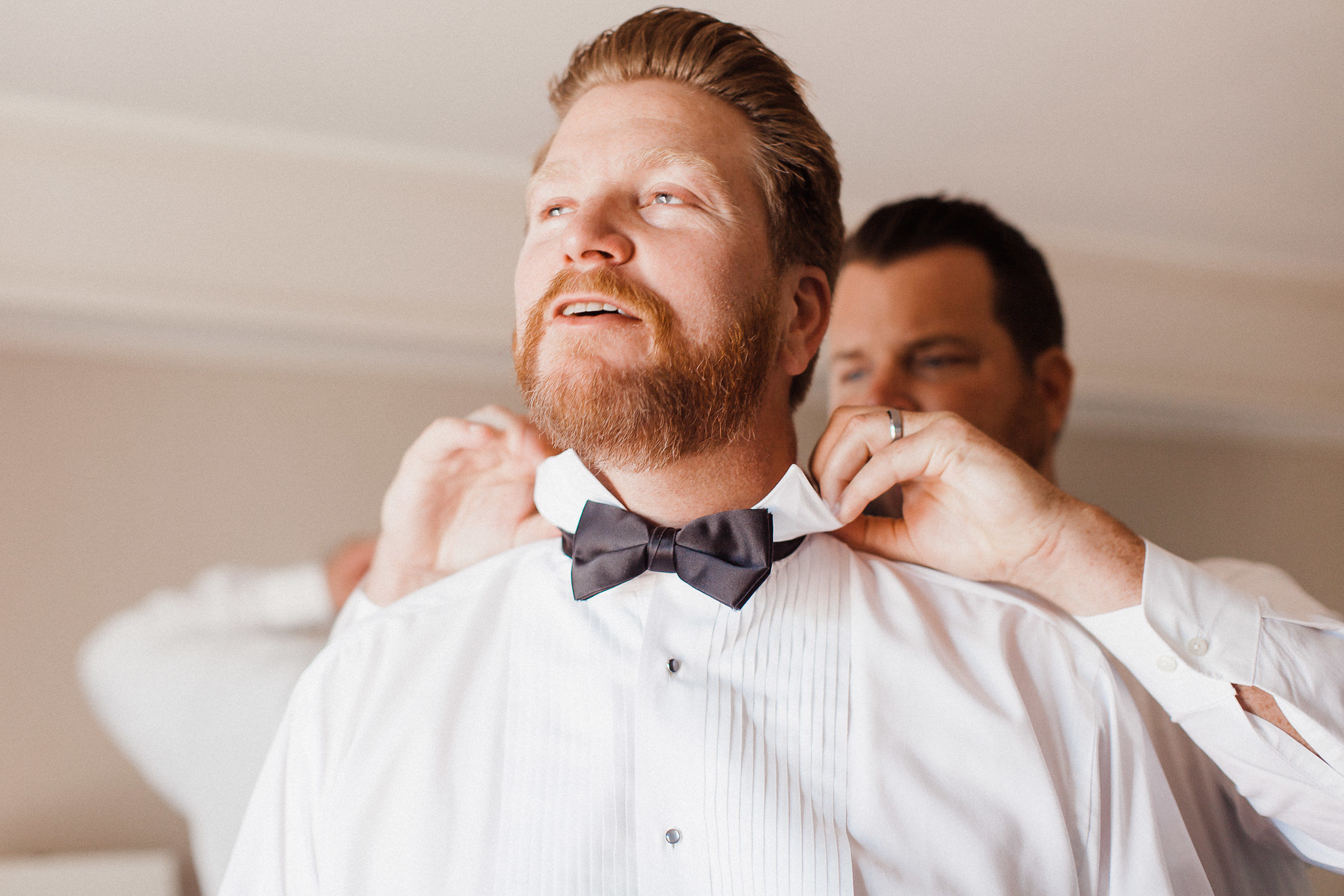 www.santabarbarawedding.com | Grace Kathryn | Santa Barbara Historical Museum | Groom getting ready