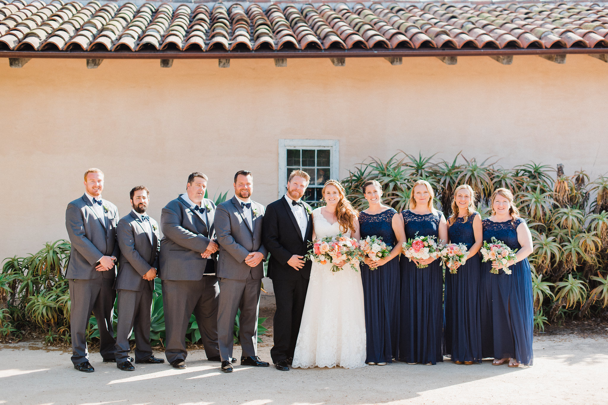 www.santabarbarawedding.com | Grace Kathryn | Santa Barbara Historical Museum | Bridal Party