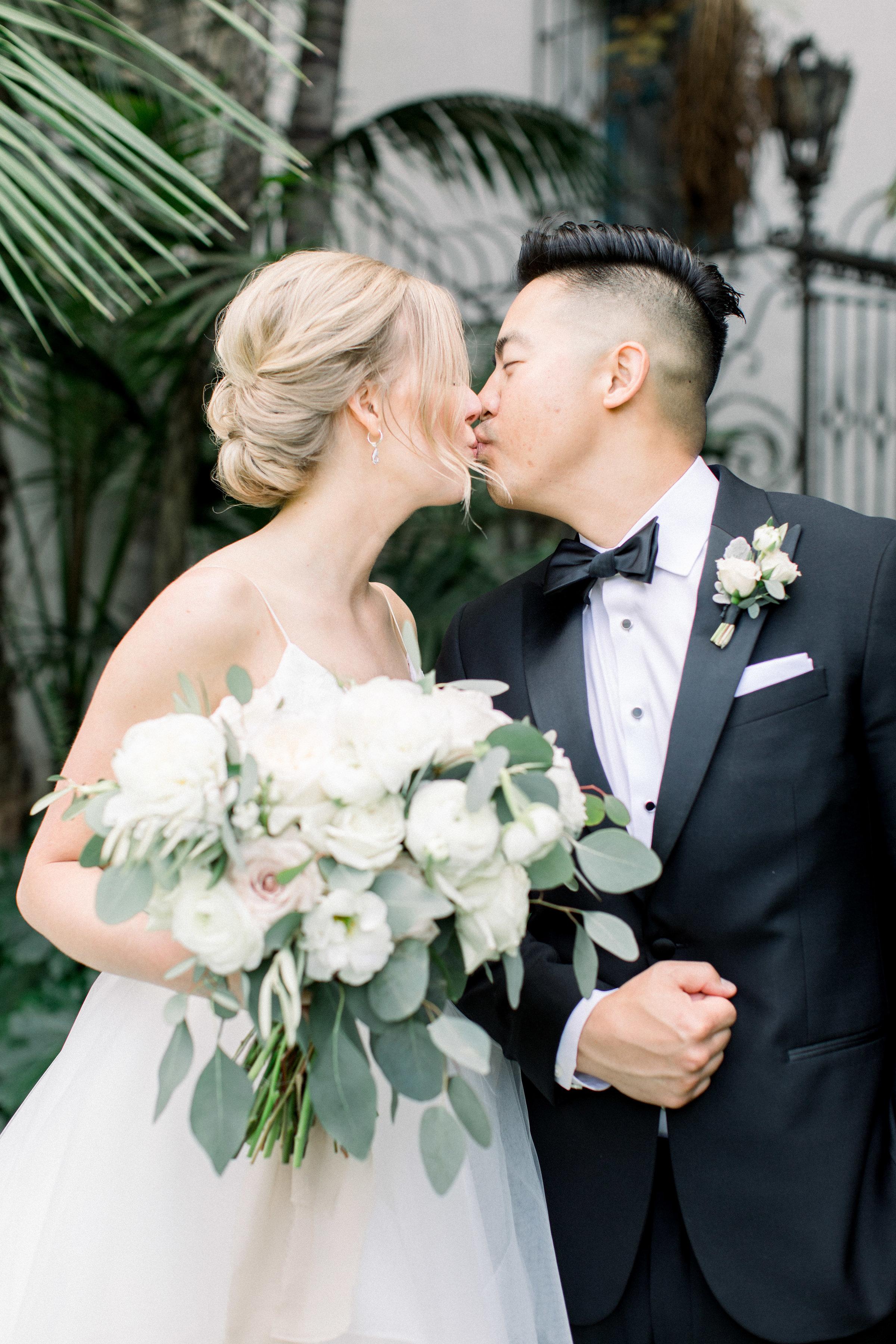 www.santabarbarawedding.com | Jenny Quicksall | Santa Barbara Club | Bride and Groom