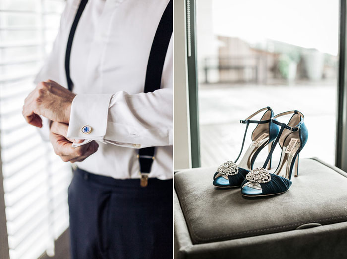 www.santabarbarawedding.com | Soigne Productions | Presqu'ile Winery | Wade Carr Photo | Groom Getting Ready | Bride's Shoes