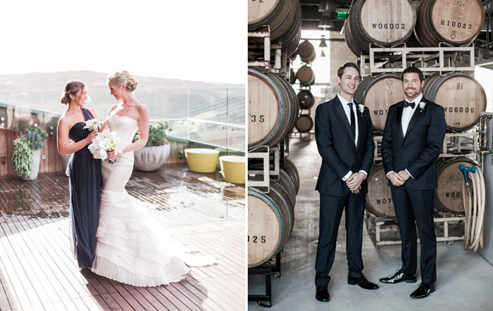 www.santabarbarawedding.com | Soigne Productions | Presqu'ile Winery | Wade Carr Photo | Bride and Groom and Attendants