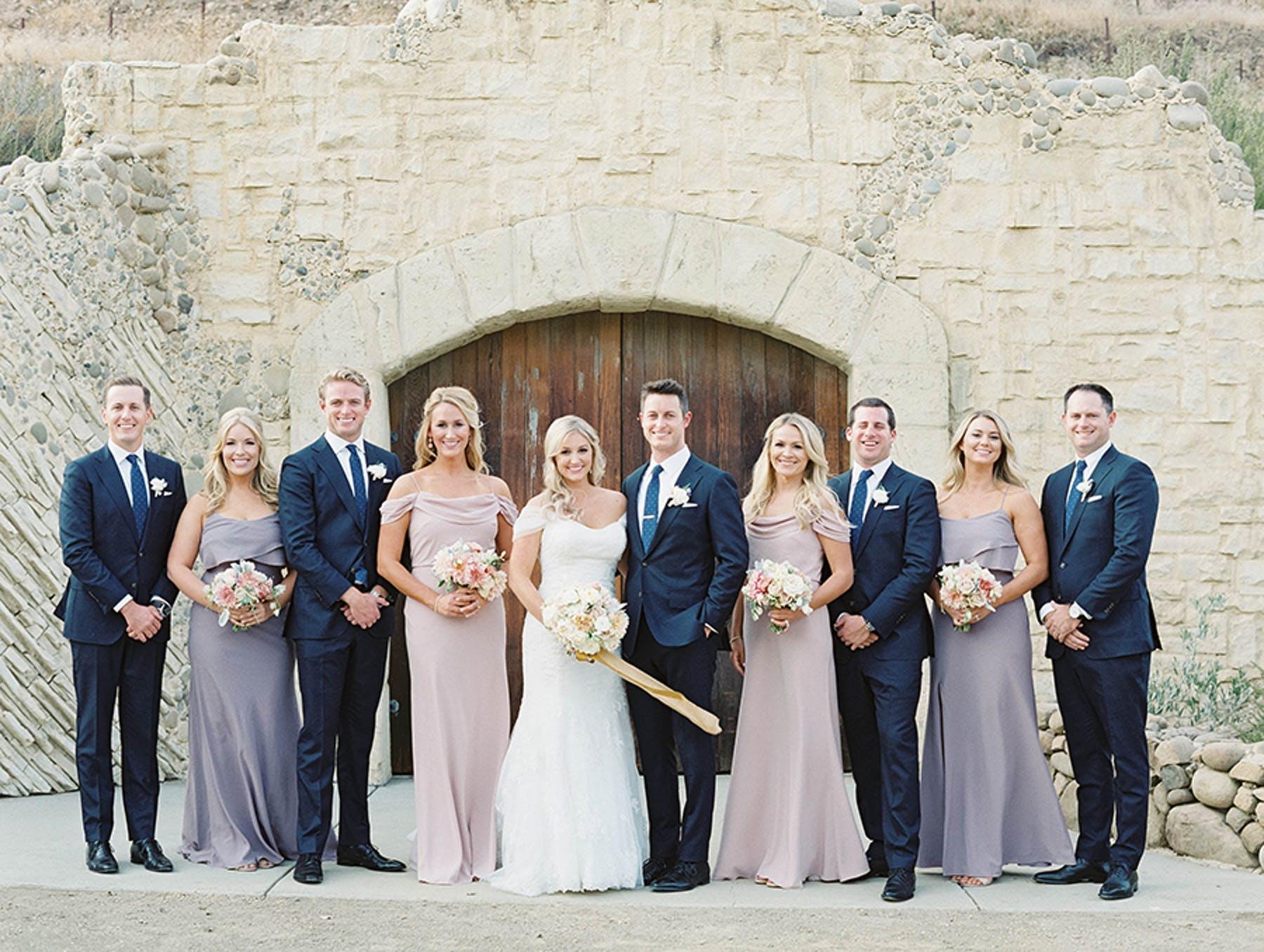 www.santabarbarawedding.com | Sunstone Winery | Luna de Mare | Esoteric Events | Bridal Party
