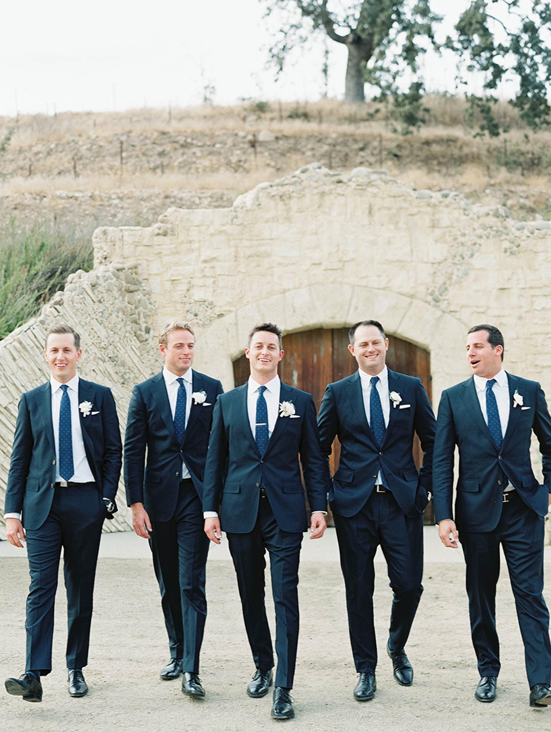 www.santabarbarawedding.com | Sunstone Winery | Luna de Mare | Esoteric Events | Groomsmen