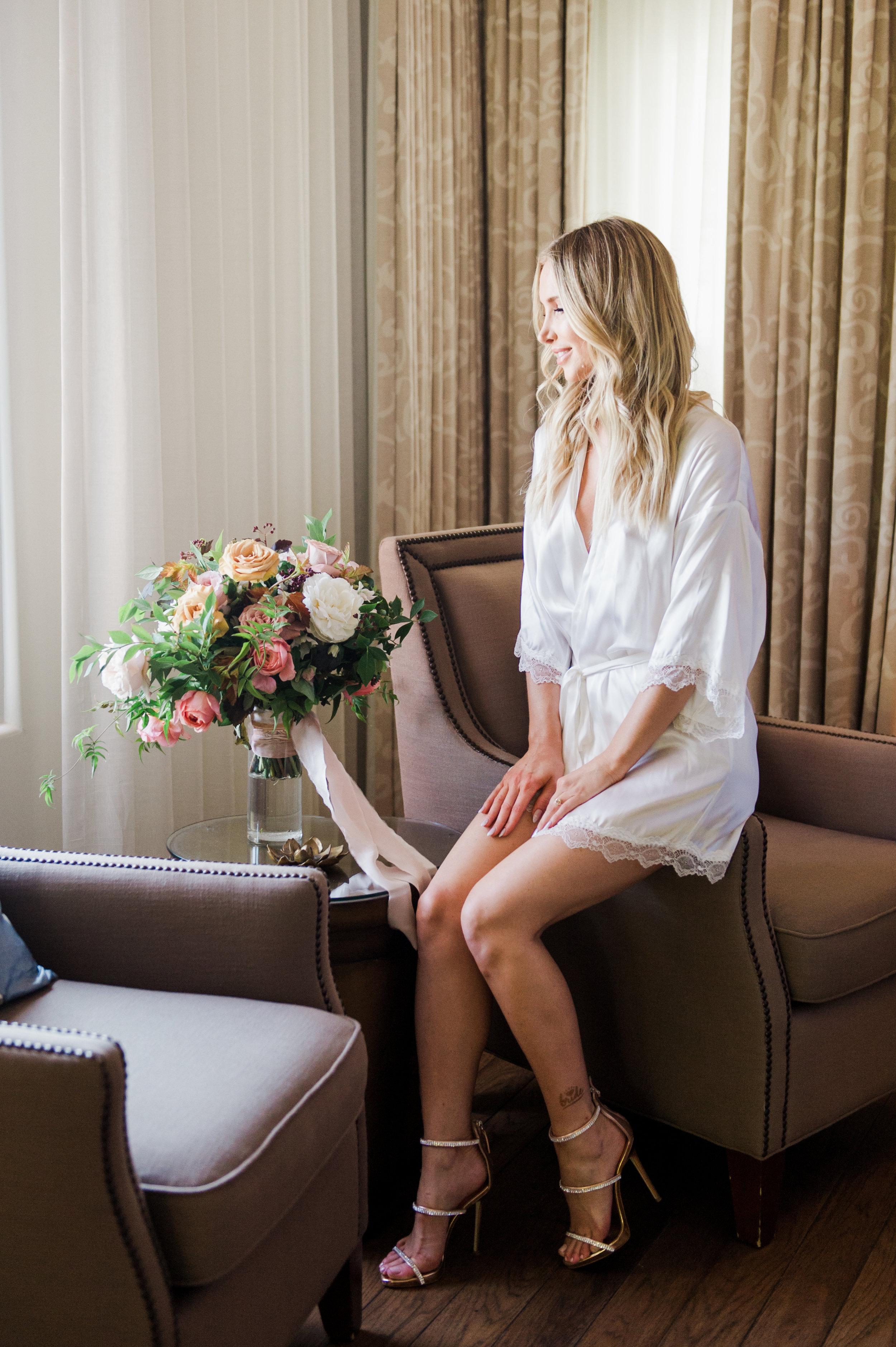 www.santabarbarawedding.com | Belmond El Encanto | Event of the Season | Taryn Grey Photo | Bride getting ready