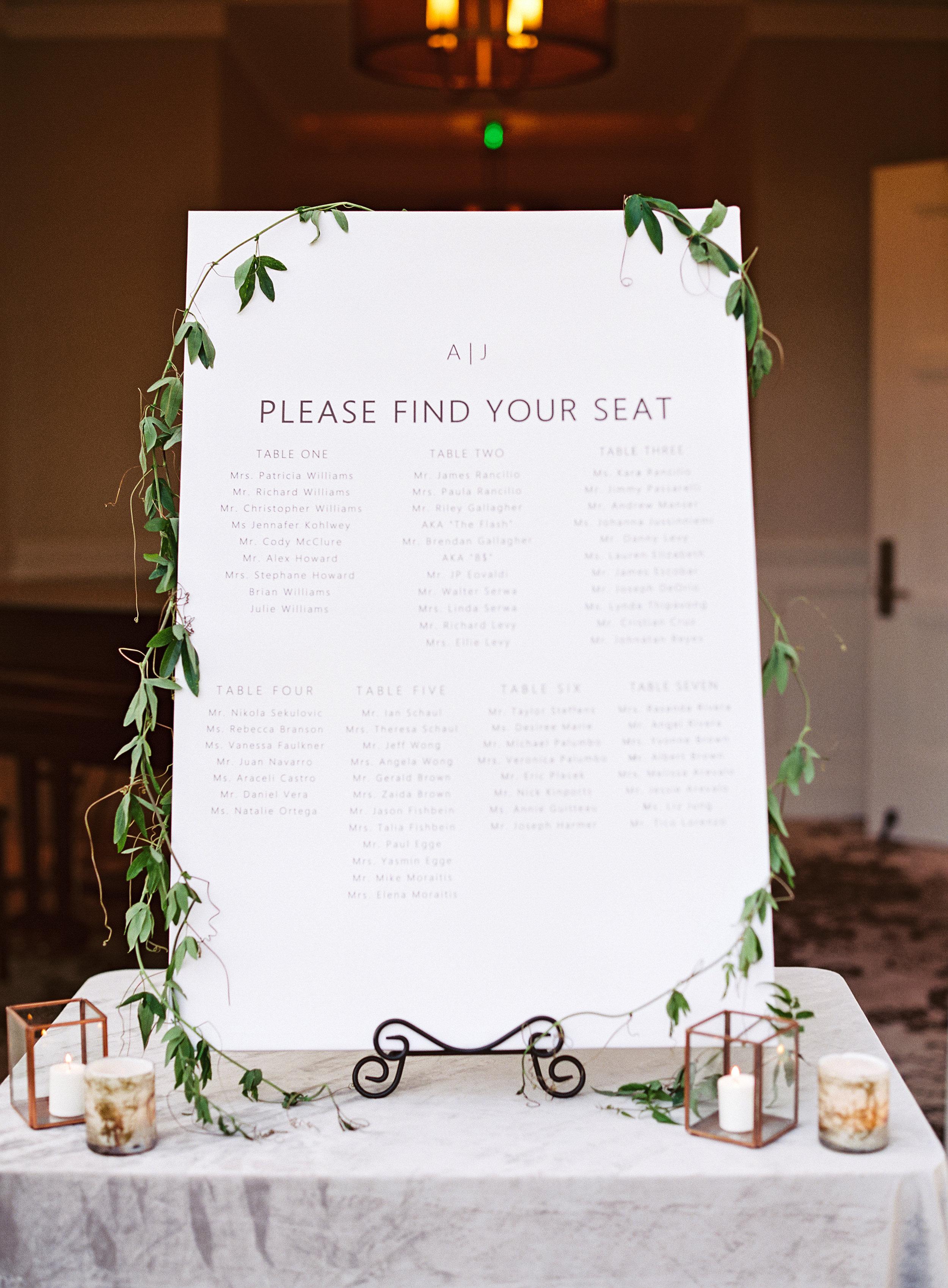 www.santabarbarawedding.com | Belmond El Encanto | Event of the Season | Taryn Grey Photo | Seating Chart