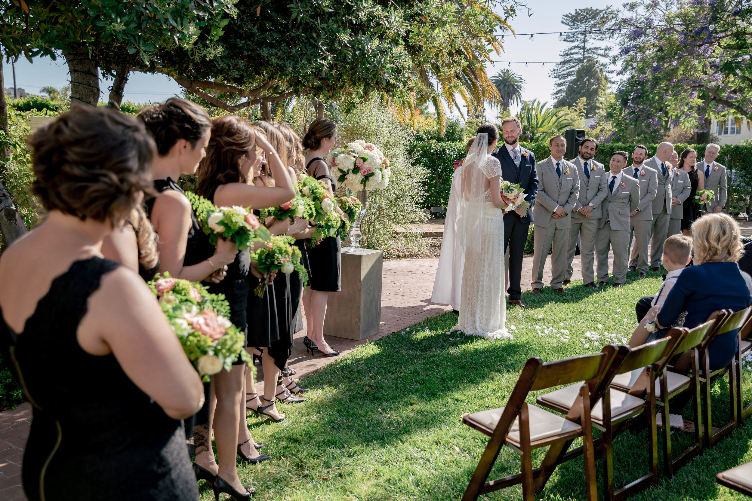 www.santabarbarawedding.com | Rewind Photography | Alegria by Design | Santa Barbara Club | ceremony