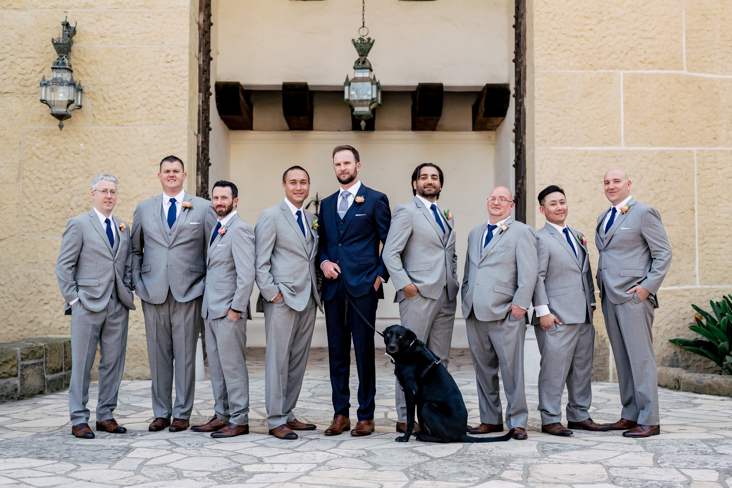 www.santabarbarawedding.com | Rewind Photography | Alegria by Design | Santa Barbara Club | Groomsmen