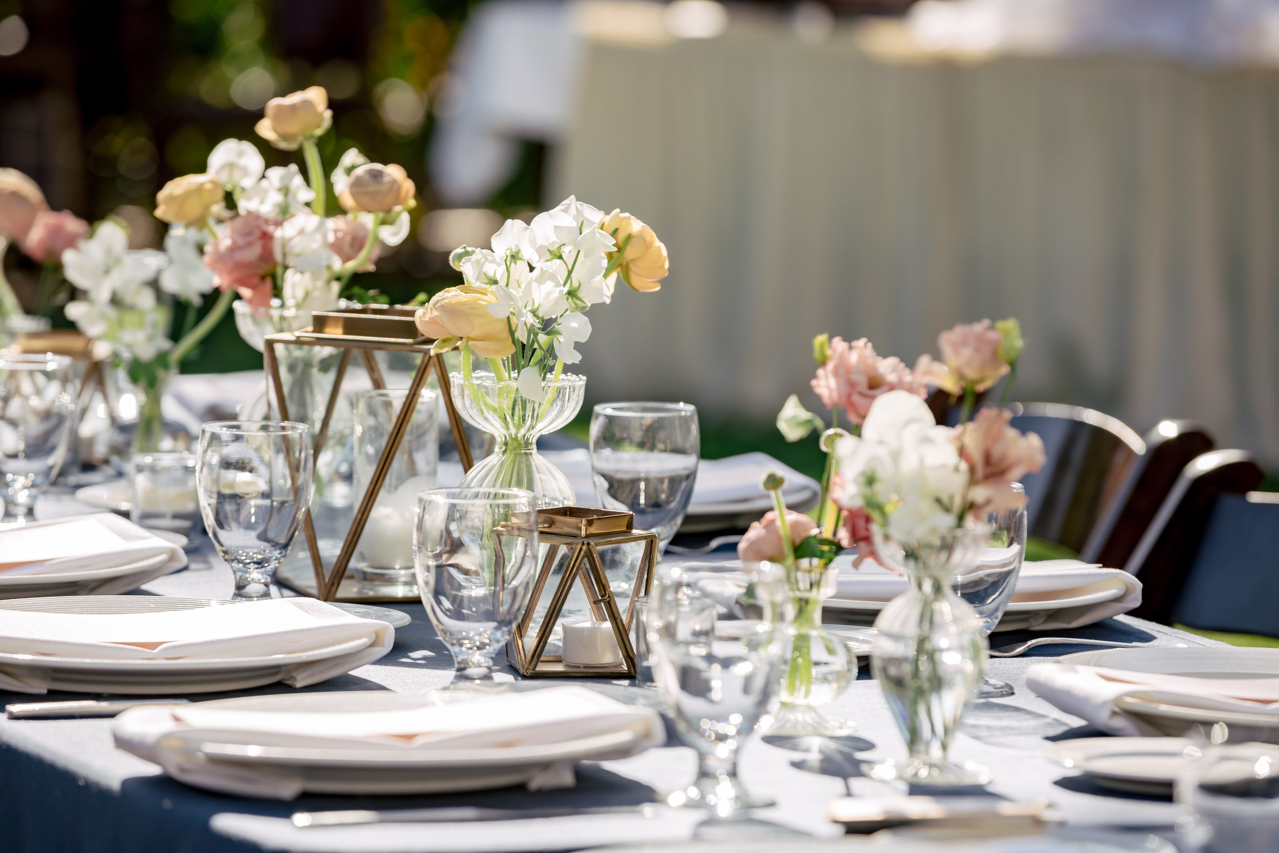 www.santabarbarawedding.com | Rewind Photography | Alegria by Design | Santa Barbara Club | Reception Table Details