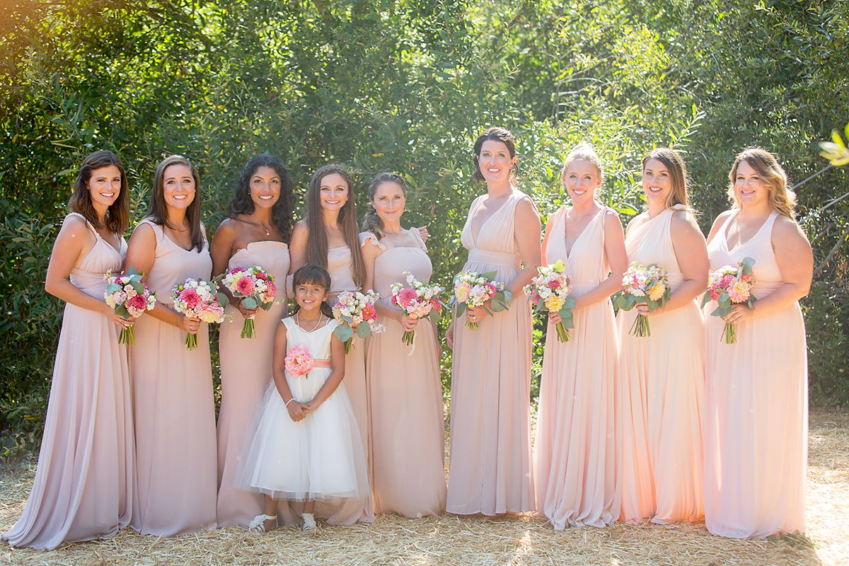www.santabarbarawedding.com   Phillip Van Nostrand   Casitas Valley Farm   Bridesmaids