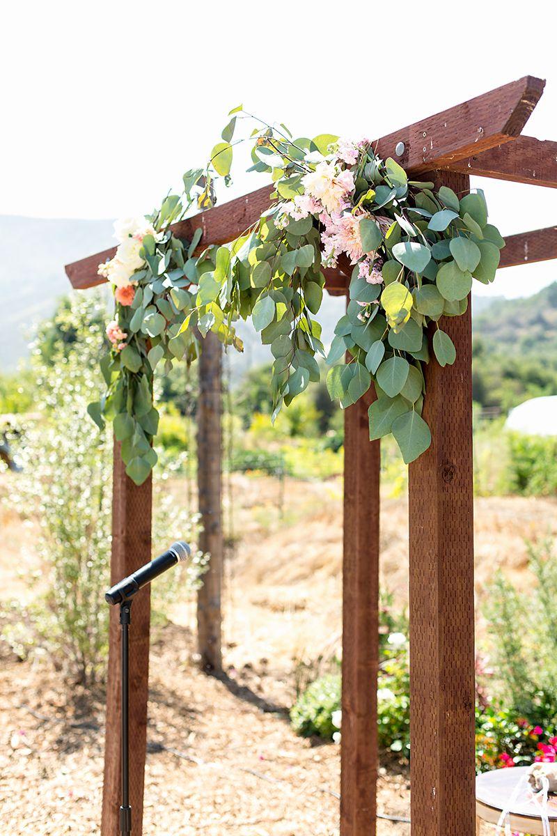www.santabarbarawedding.com   Phillip Van Nostrand   Casitas Valley Farm   Wedding Arch