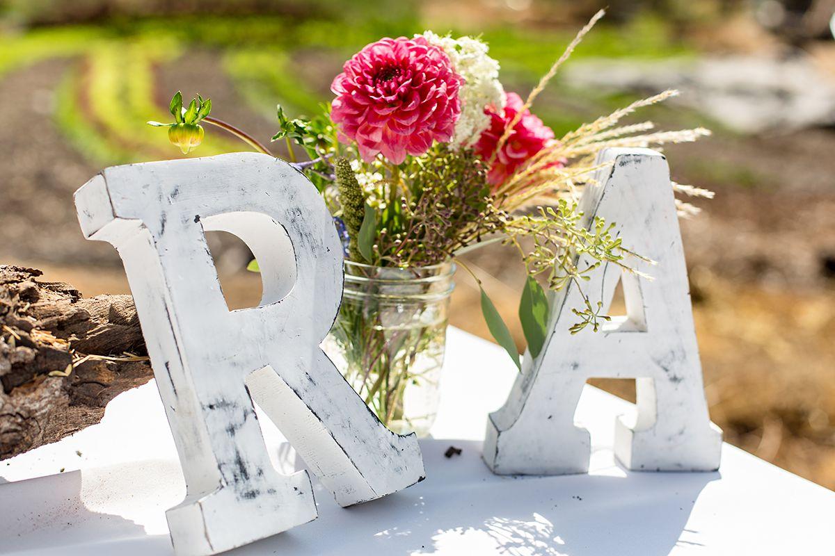 www.santabarbarawedding.com   Phillip Van Nostrand   Casitas Valley Farm   Initials
