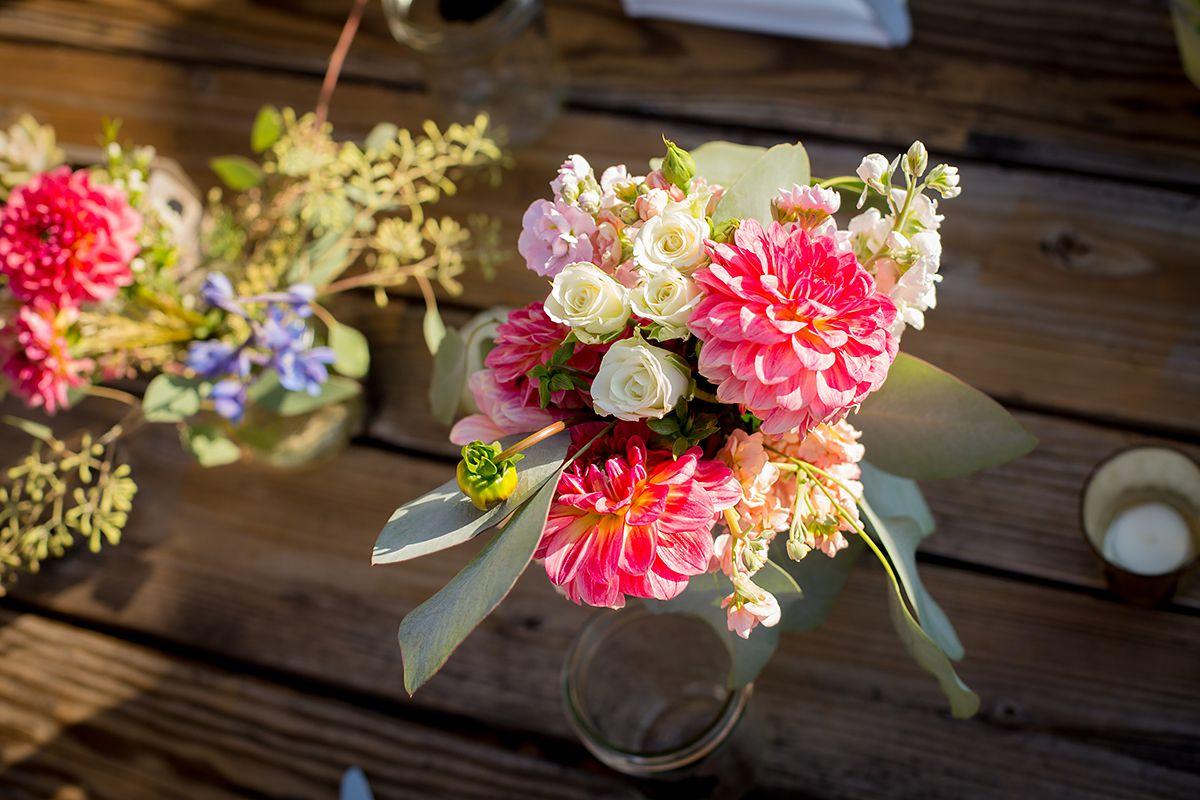 www.santabarbarawedding.com   Phillip Van Nostrand   Casitas Valley Farm   Flower Arrangements