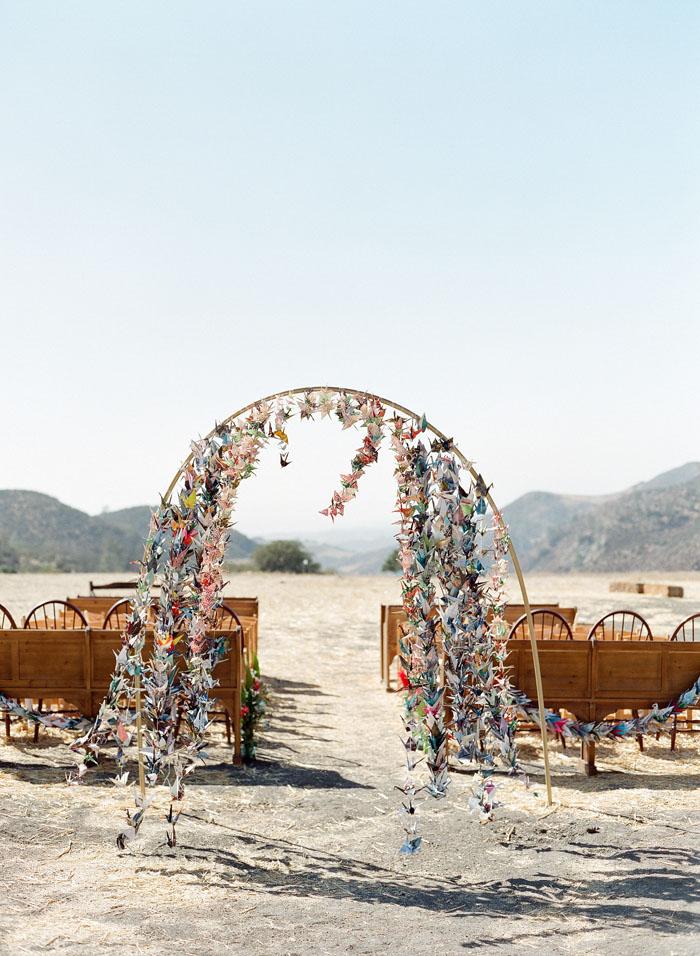 www.santabarbarawedding.com | Soigne Productions | Figueroa Mountain Farmhouse | Lacie Hansen | Ceremony Space