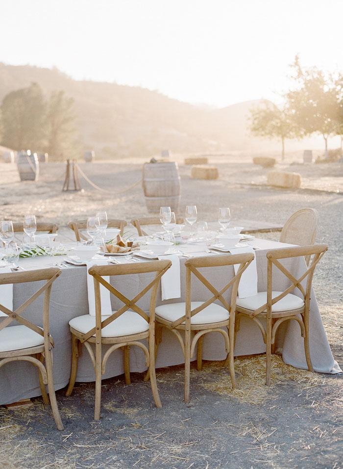 www.santabarbarawedding.com | Soigne Productions | Figueroa Mountain Farmhouse | Lacie Hansen | Reception Table