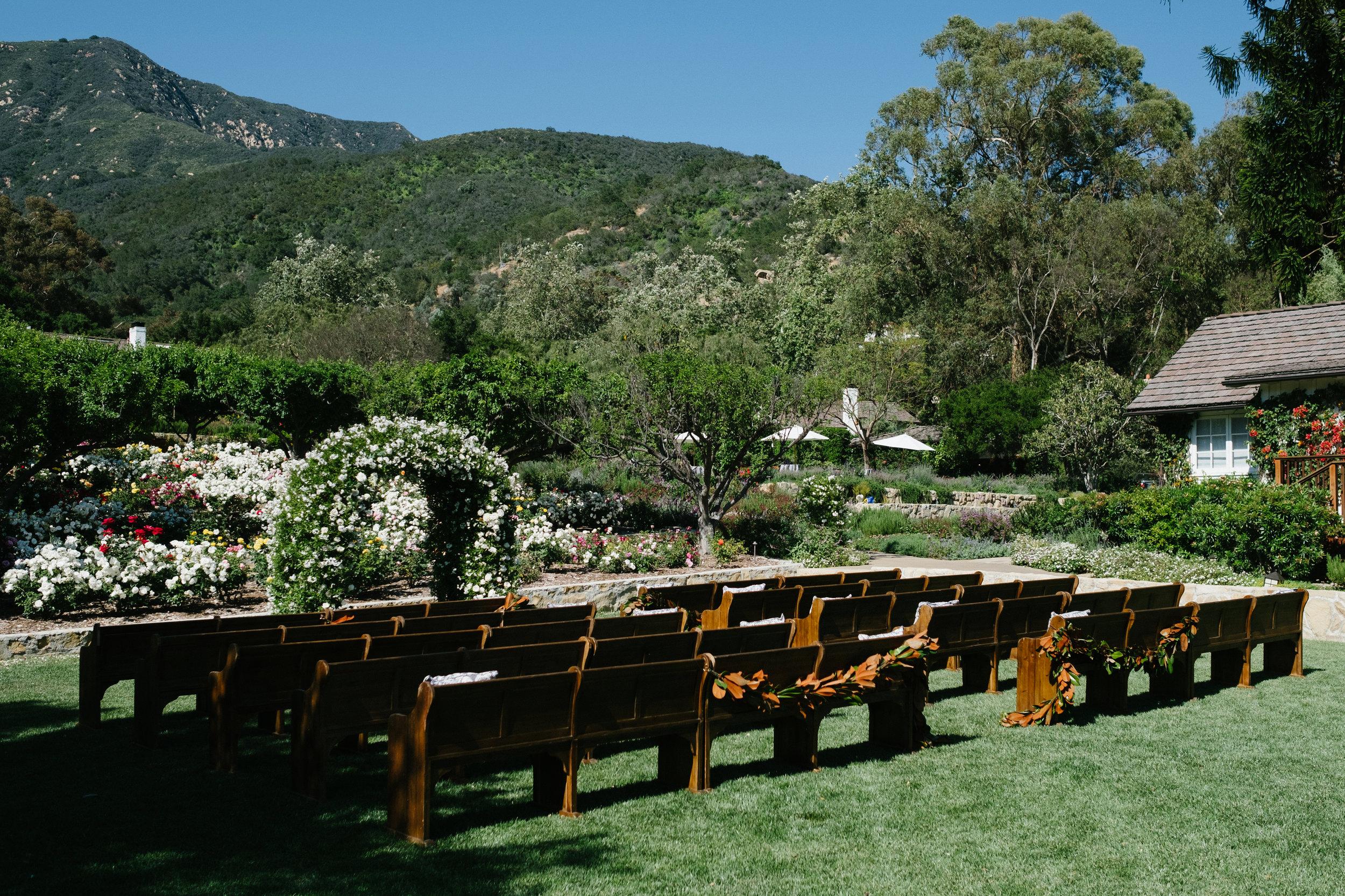 www.santabarbarawedding.com   San Ysidro Ranch   Imagine Events   Millay and Young Photo   Ceremony