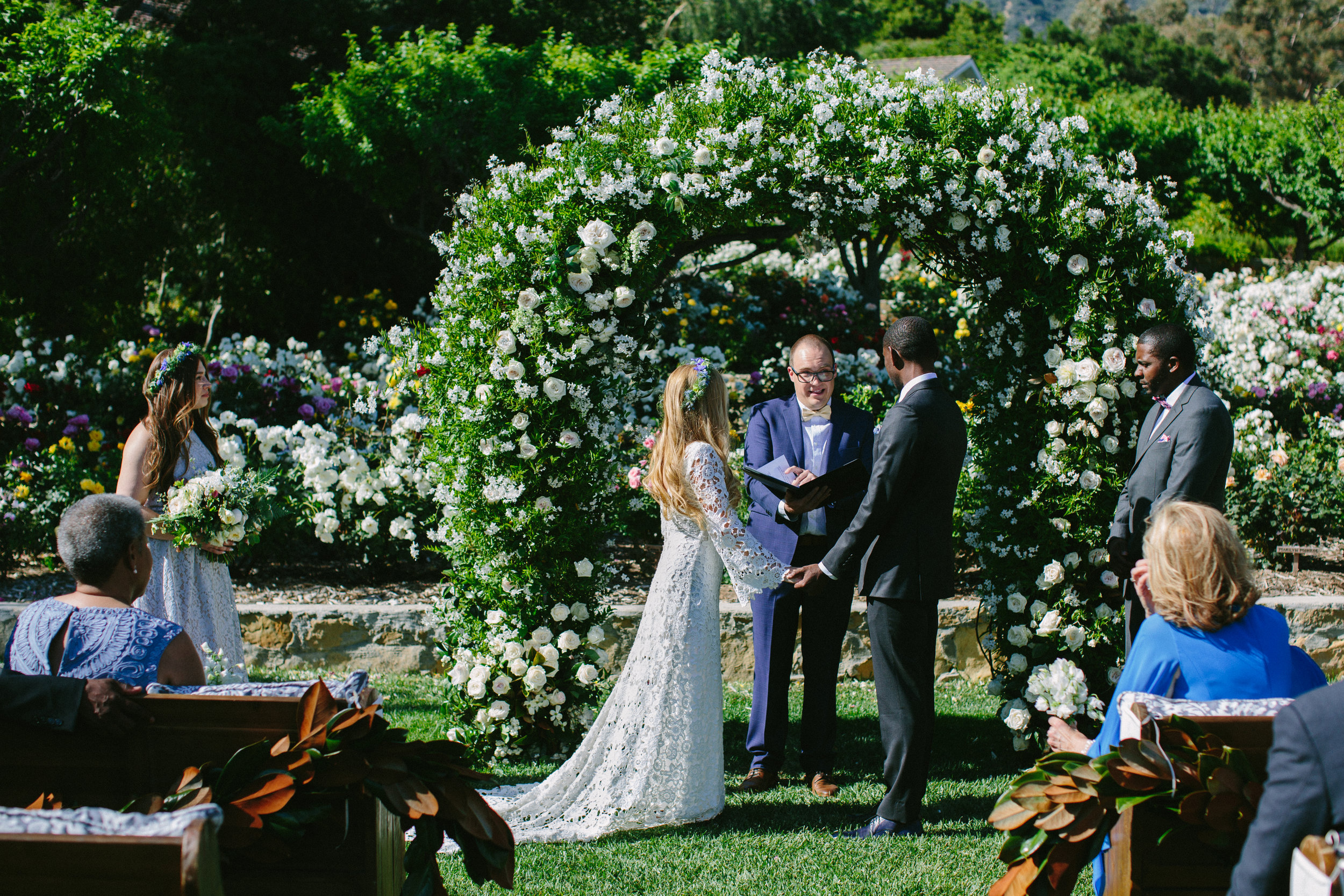 www.santabarbarawedding.com   San Ysidro Ranch   Imagine Events   Millay and Young Photo   Wedding Vows   Ceremony
